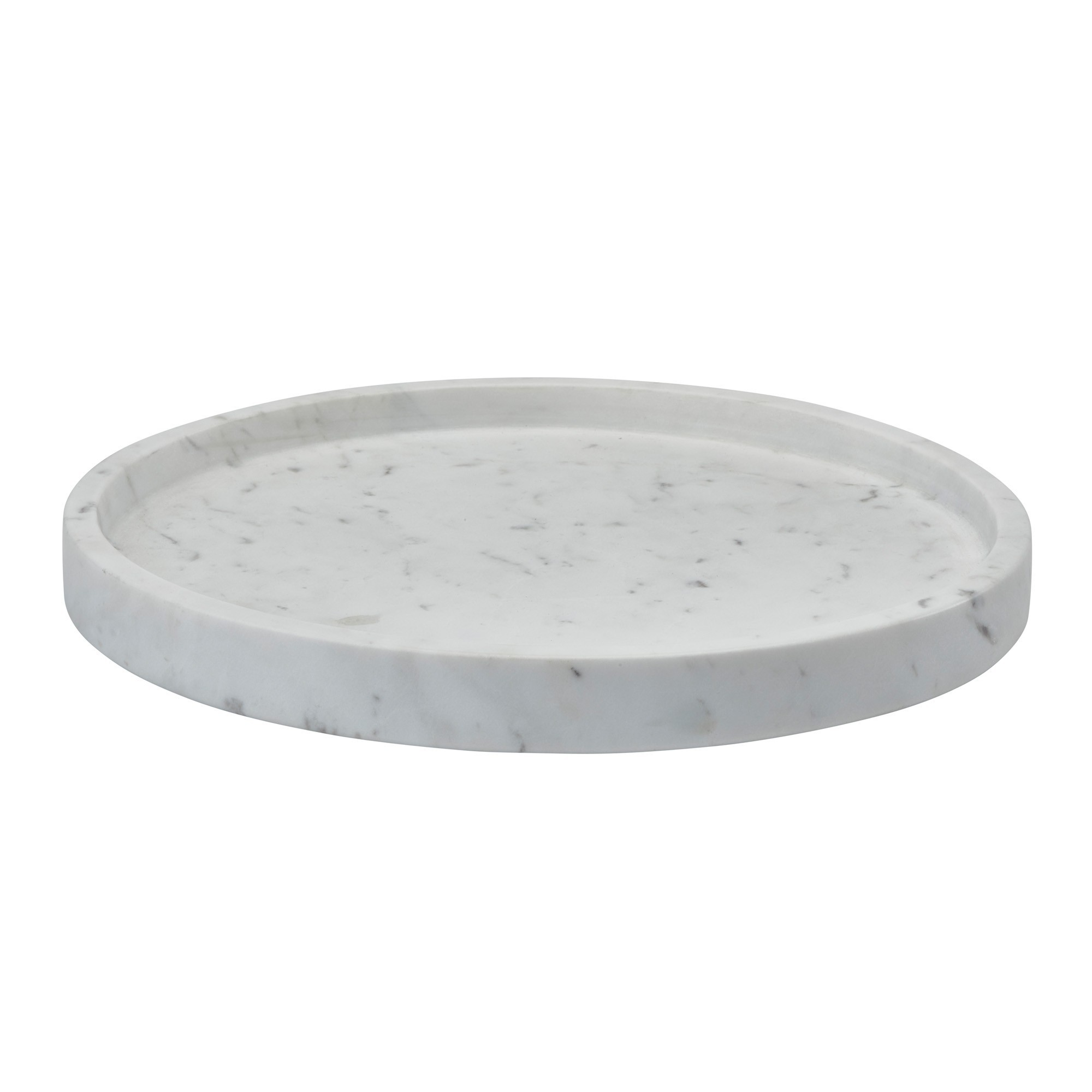 Aquanova Hammam Natural Stone Round Tray, White