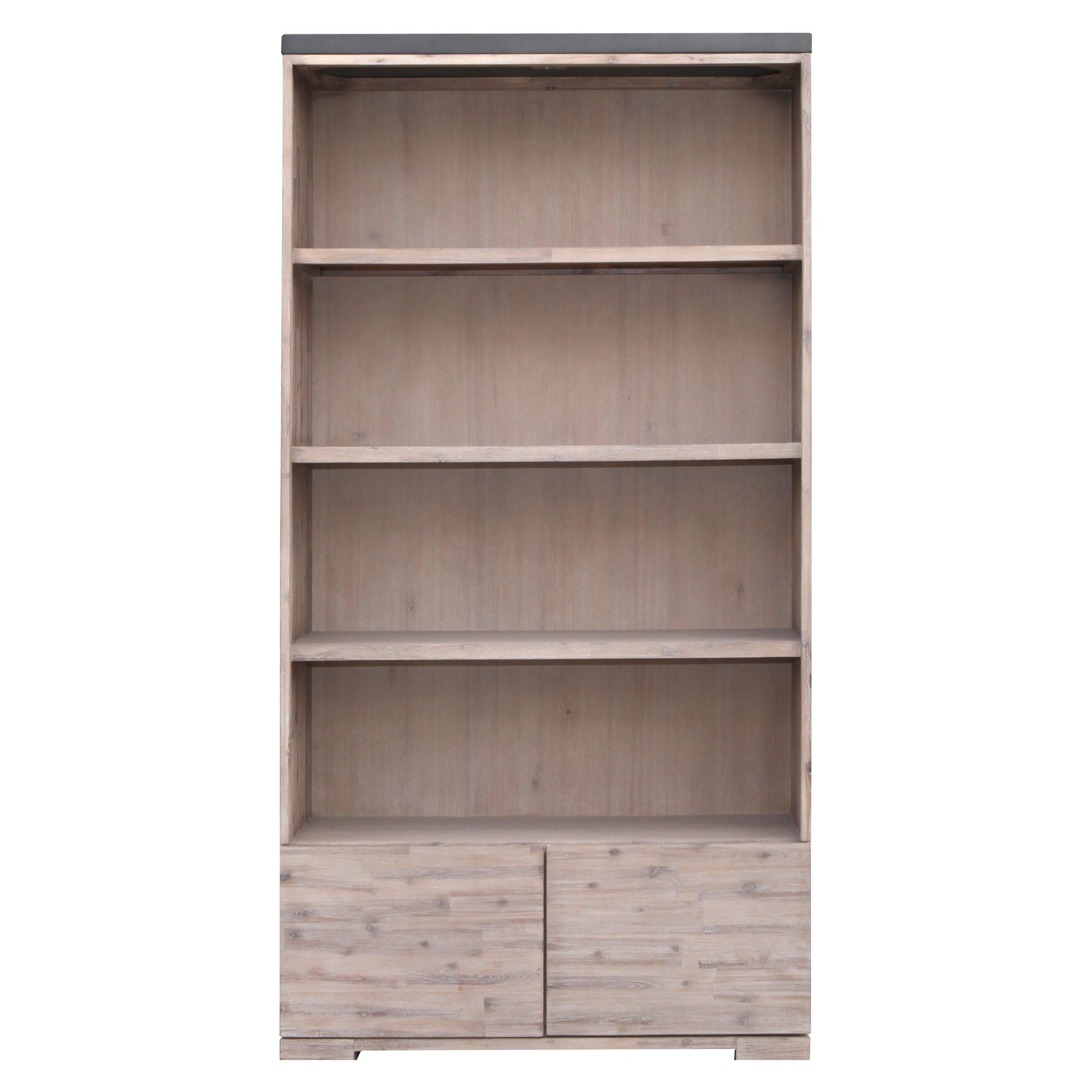 Pesaro Concrete Top Acacia Timber Display Cabinet