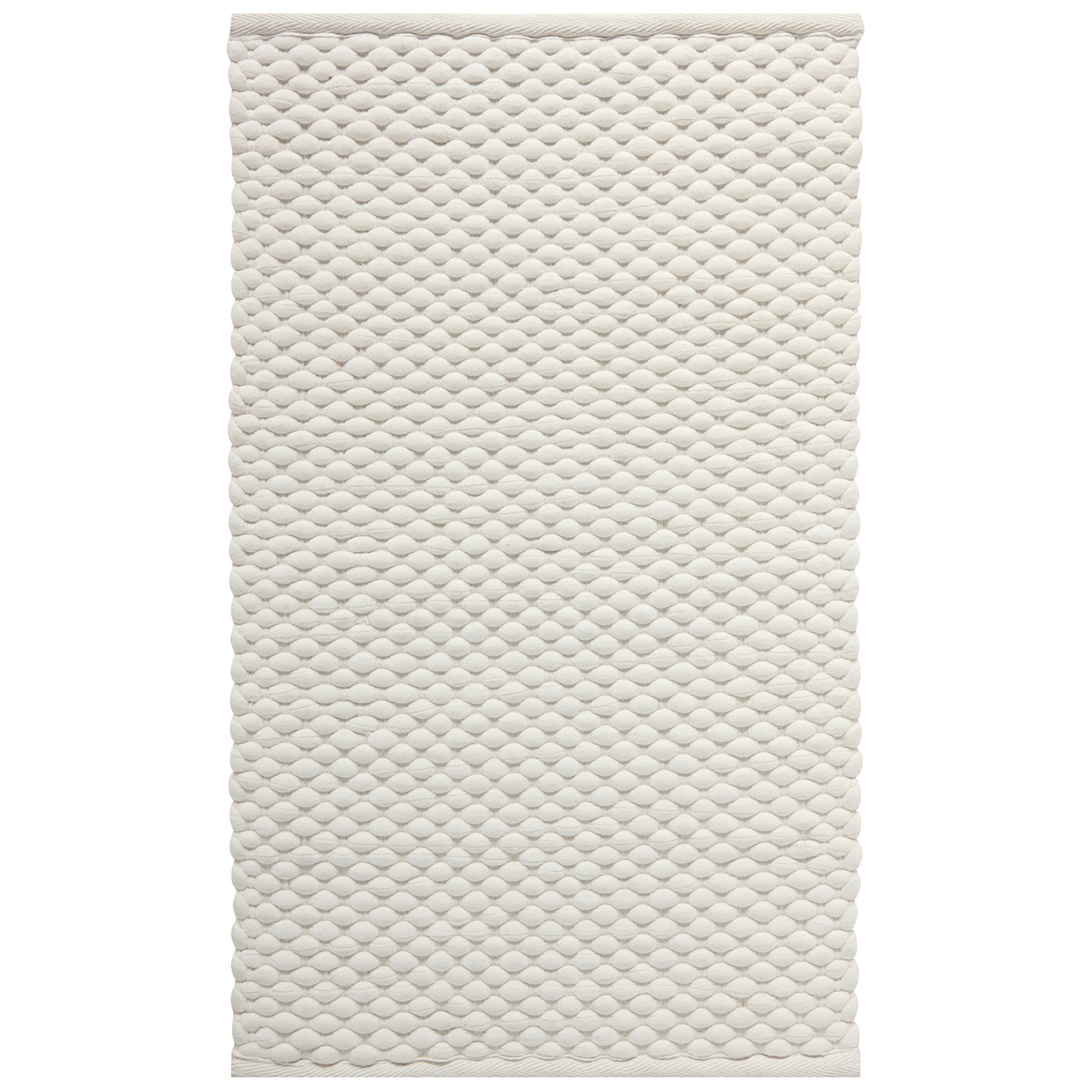 Aquanova Maks Handcrafted Cotton Bath Mat, 100x60cm, Ivory