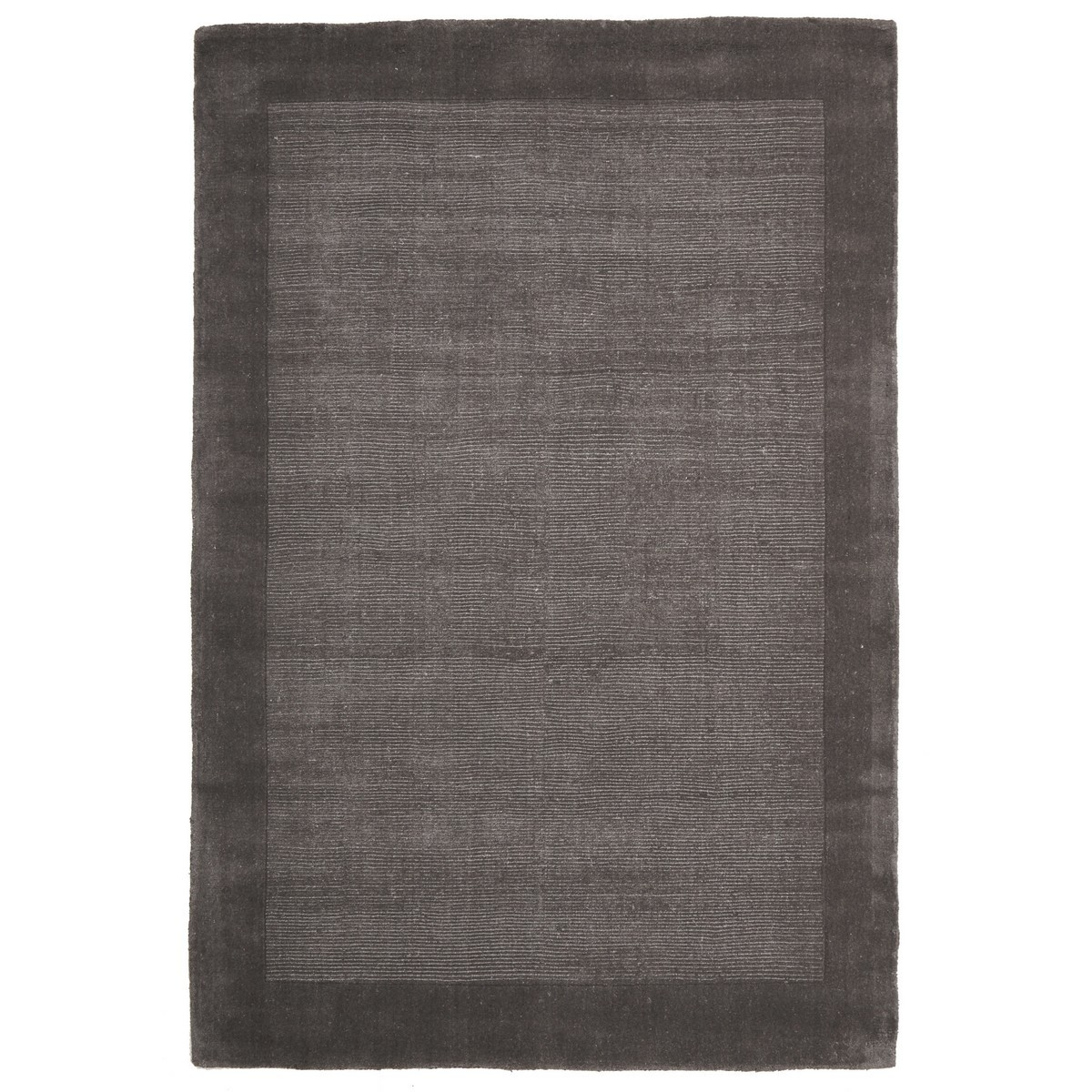 Luxe Hand Tufted Wool Runner Rug, 225x155cm, Grey