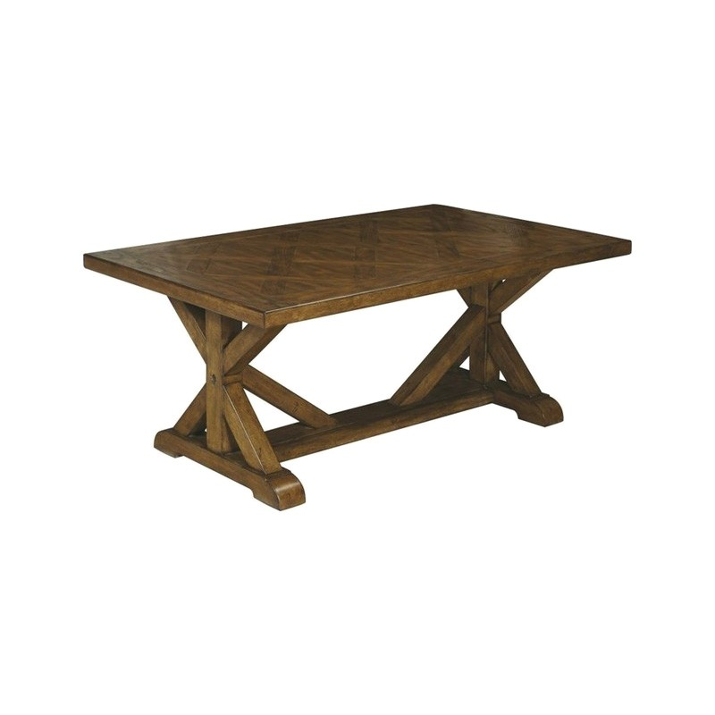 Weiterswiller Oak Timber Coffee Table, 127cm