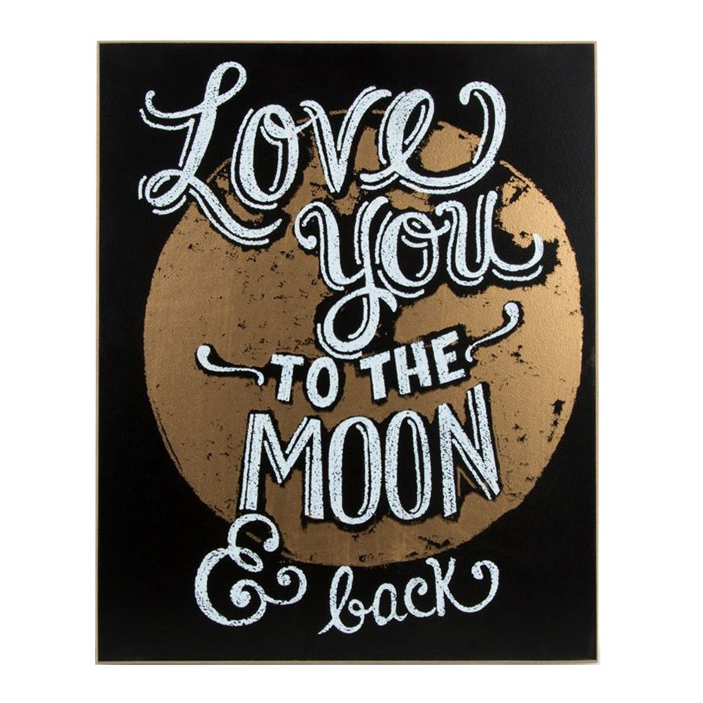 Golden Moon Plaque Wall Art, 35.5cm