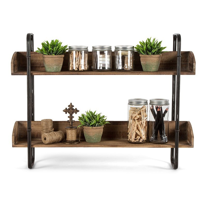 Lazio Metal & Wood Wall Shelf