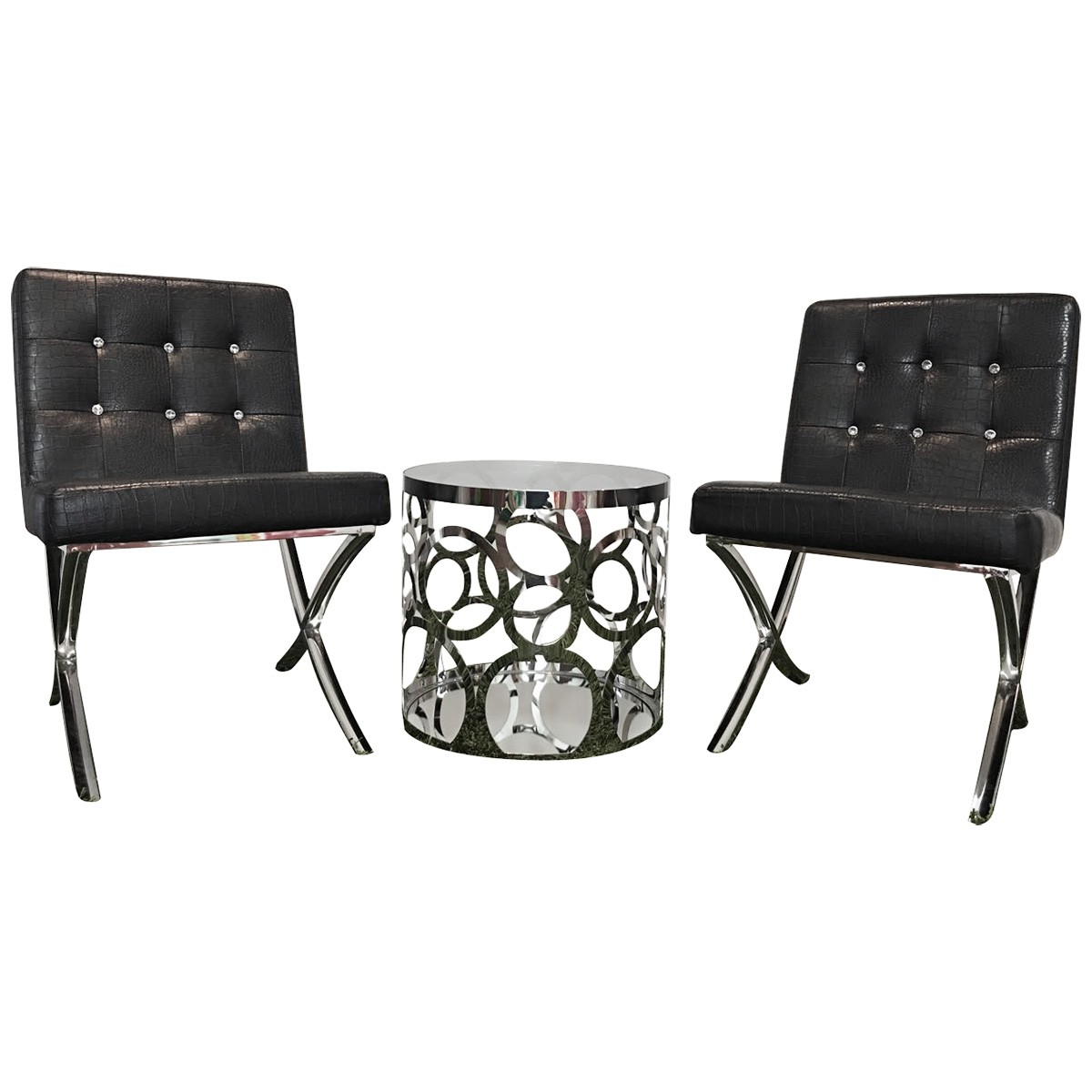Alice & Celestine 3 Piece Lounge Set, Black