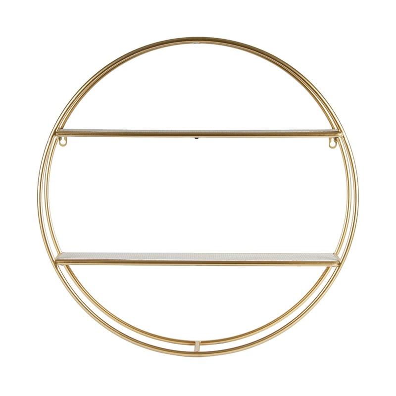 Moricone Metal Round Wall Shelf