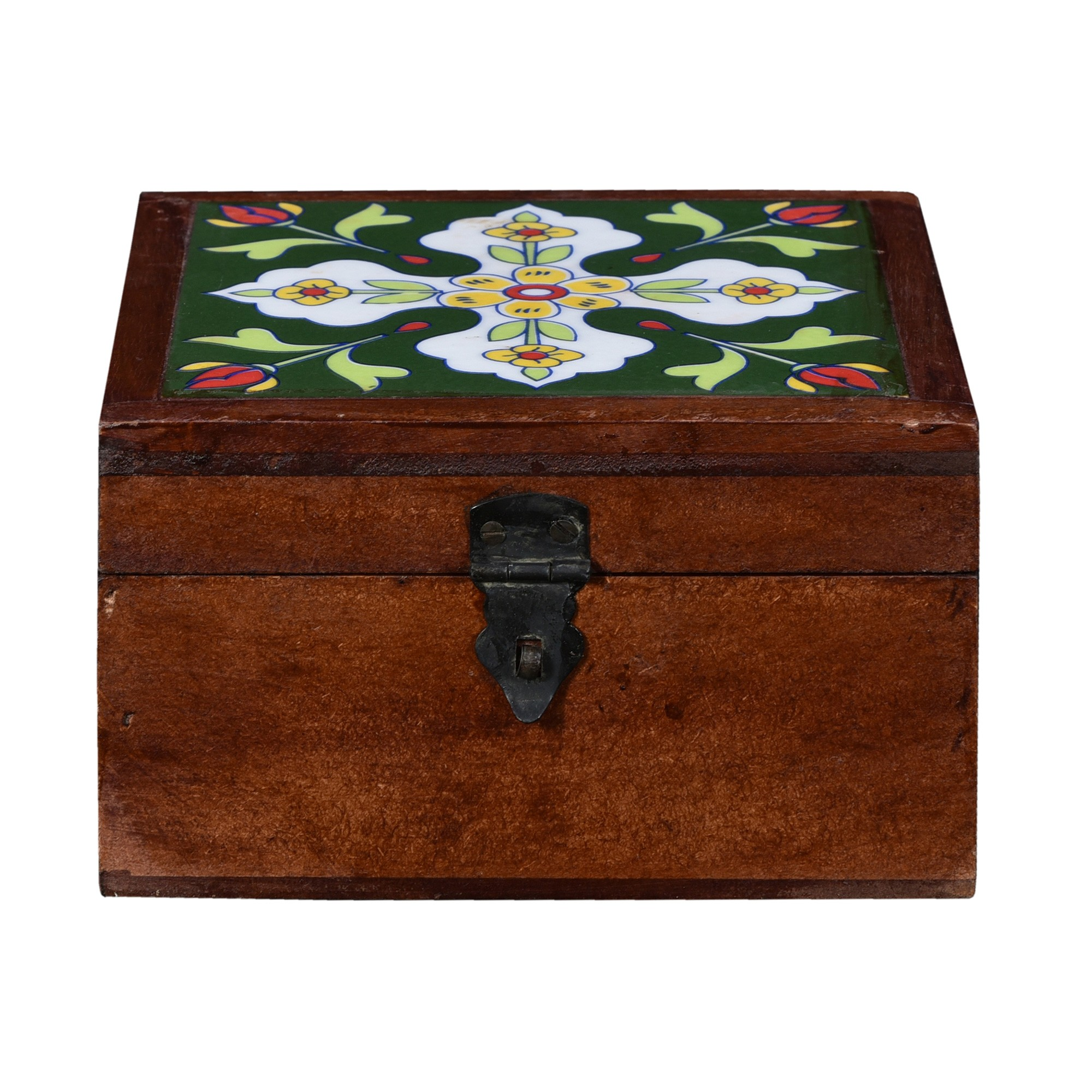 Ceri Moroccan Tile Inlay Timber Storage Box
