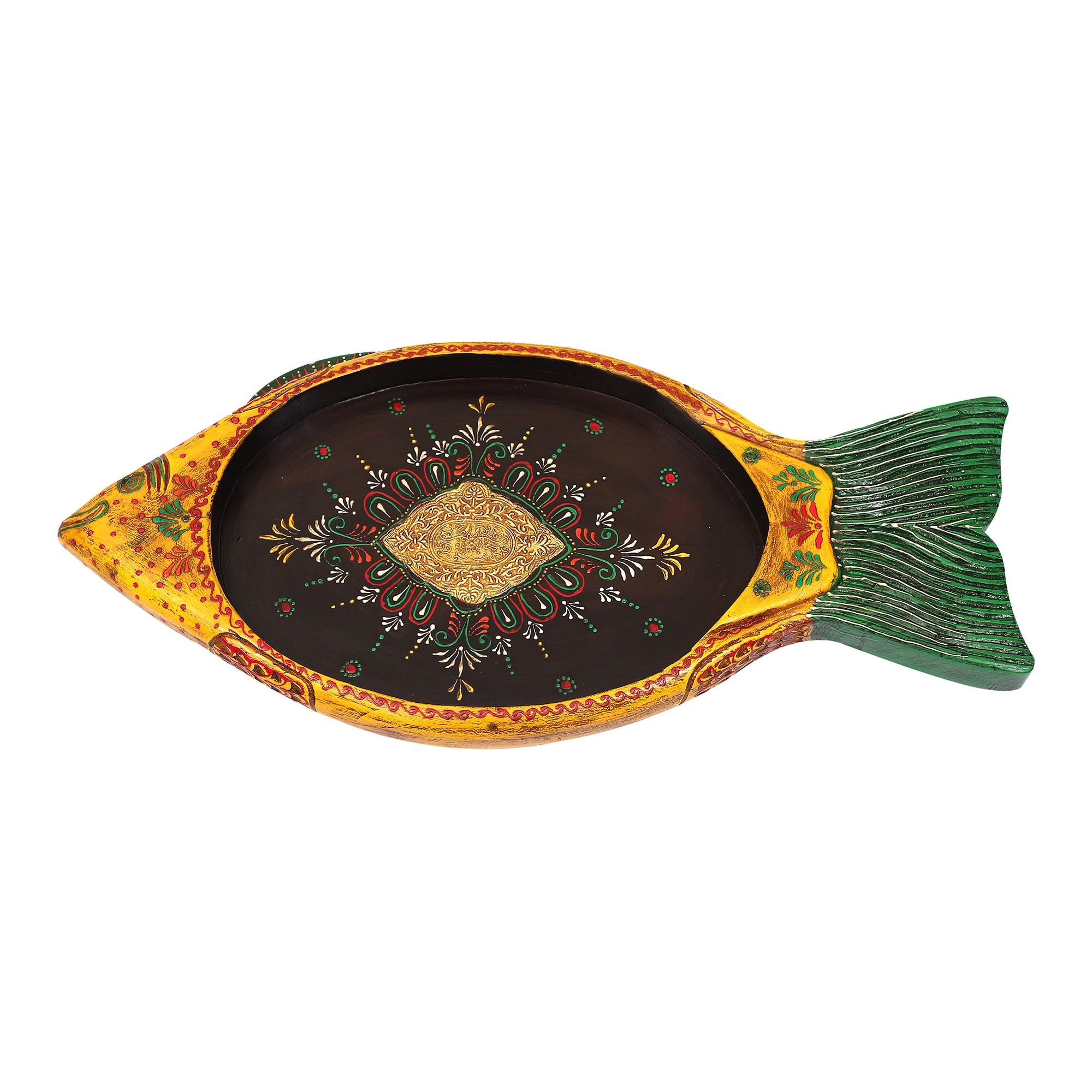 Wafulture Hand Painted Timber Fish Tray