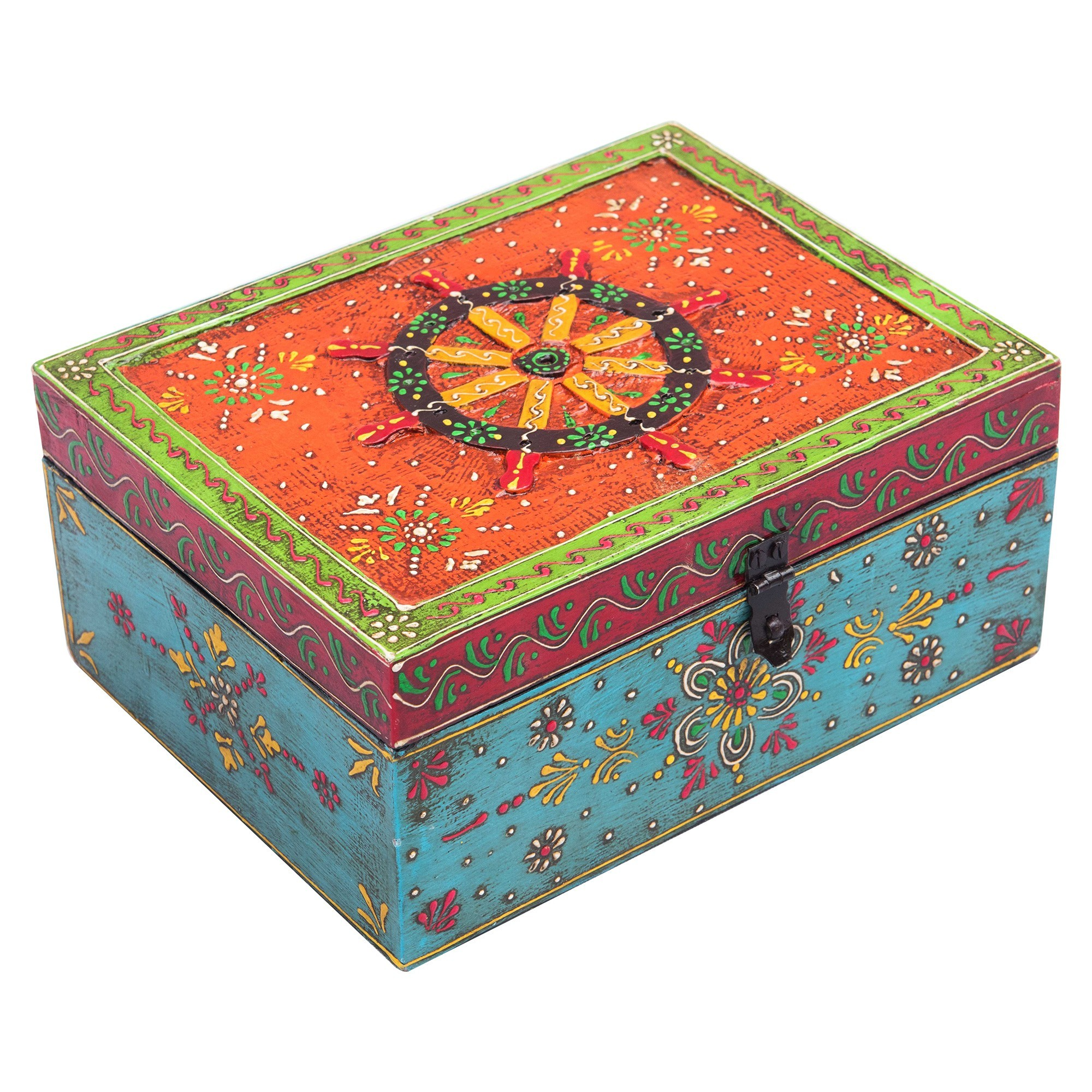 Pistra Painted Wooden Storage Box