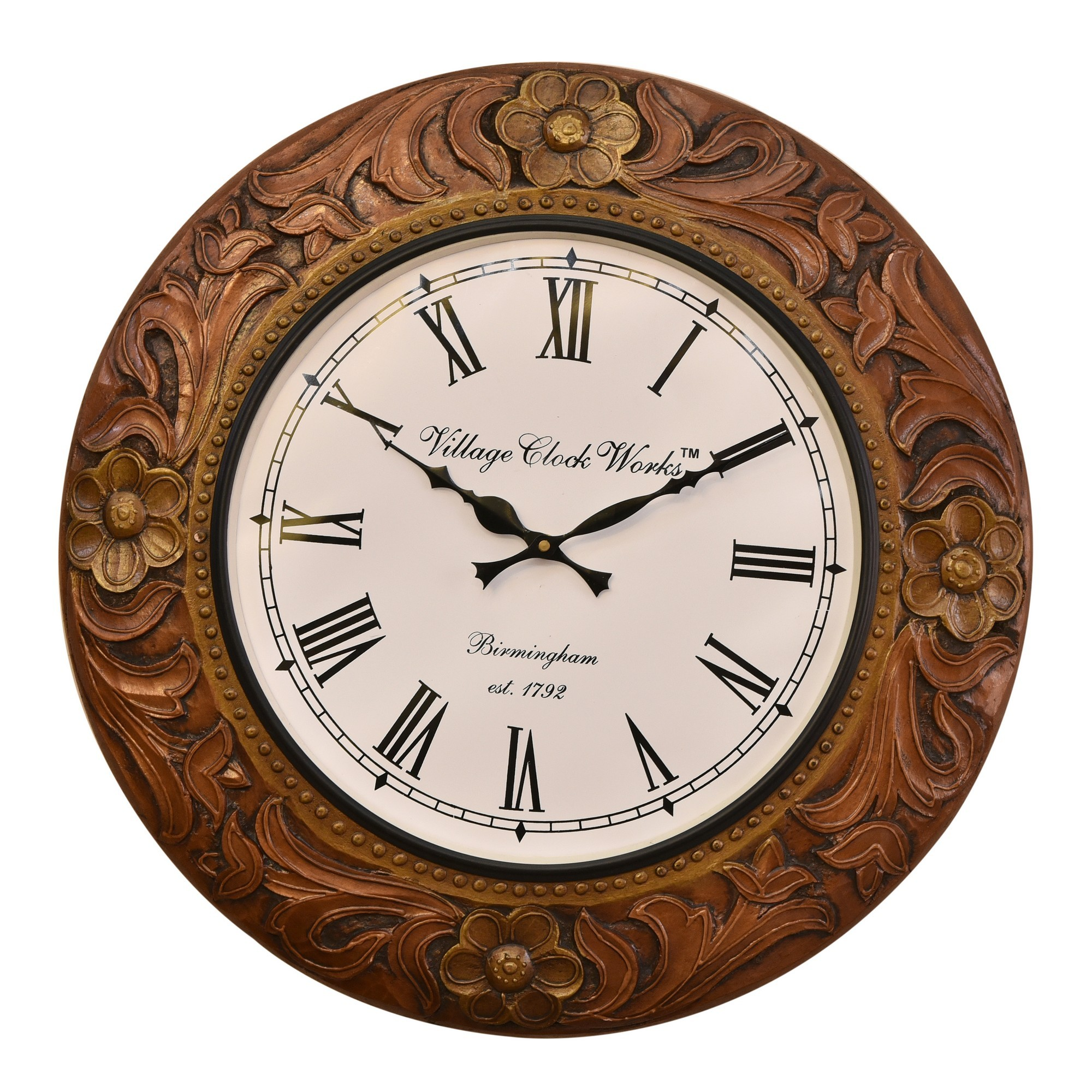 Jliam Metal Round Wall Clock, 45.5cm