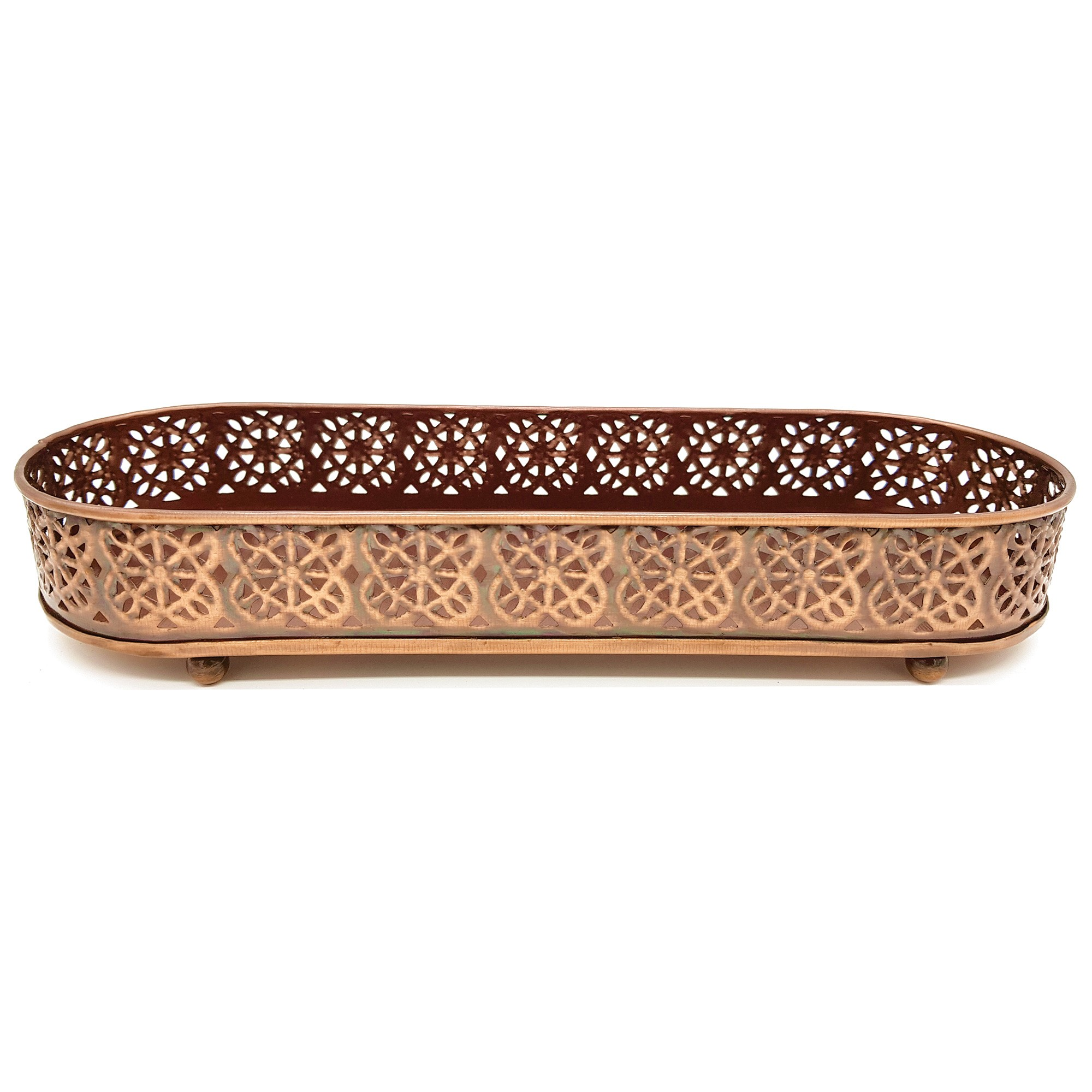 Kemsi Metal Tray, Large, Bronze