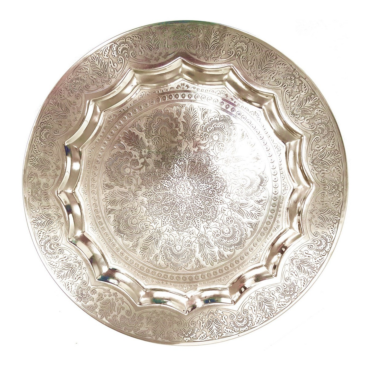 Jullie Embossed Metal Platter