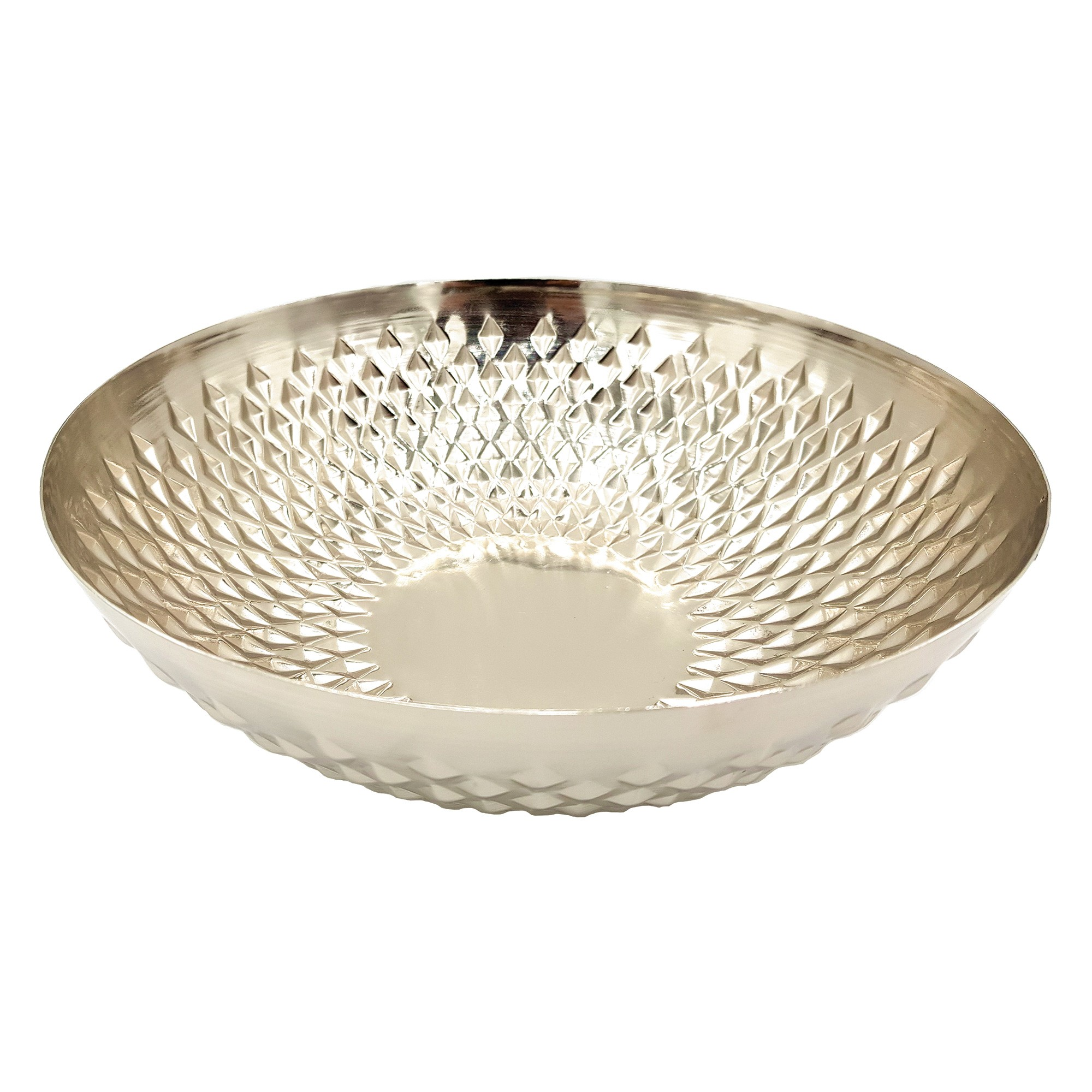 Siki Metal Bowl, Large, Silver