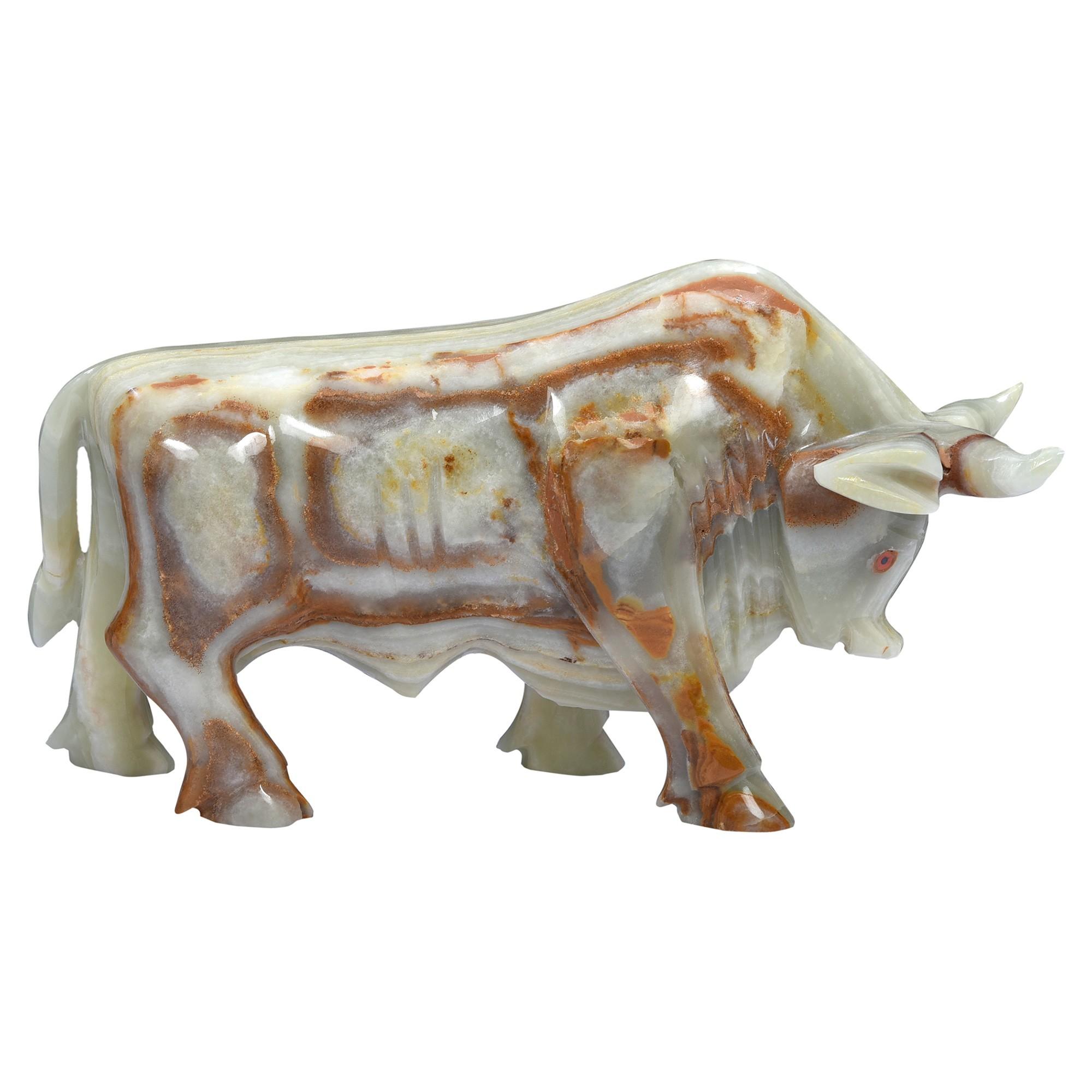 Sinxum Onyx Bull Sculpture