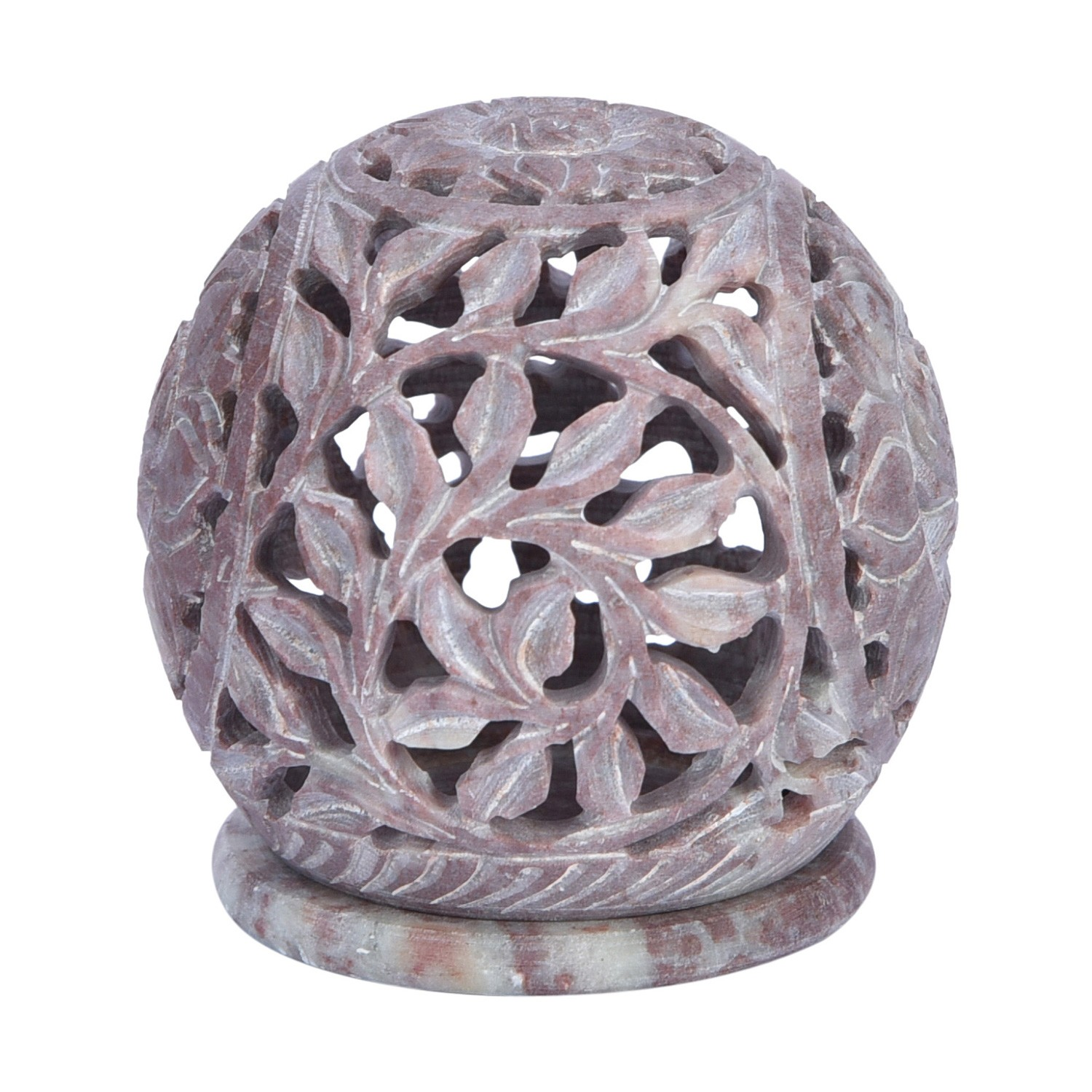 Mollern Hand Carved Soapstone Tealight Holder