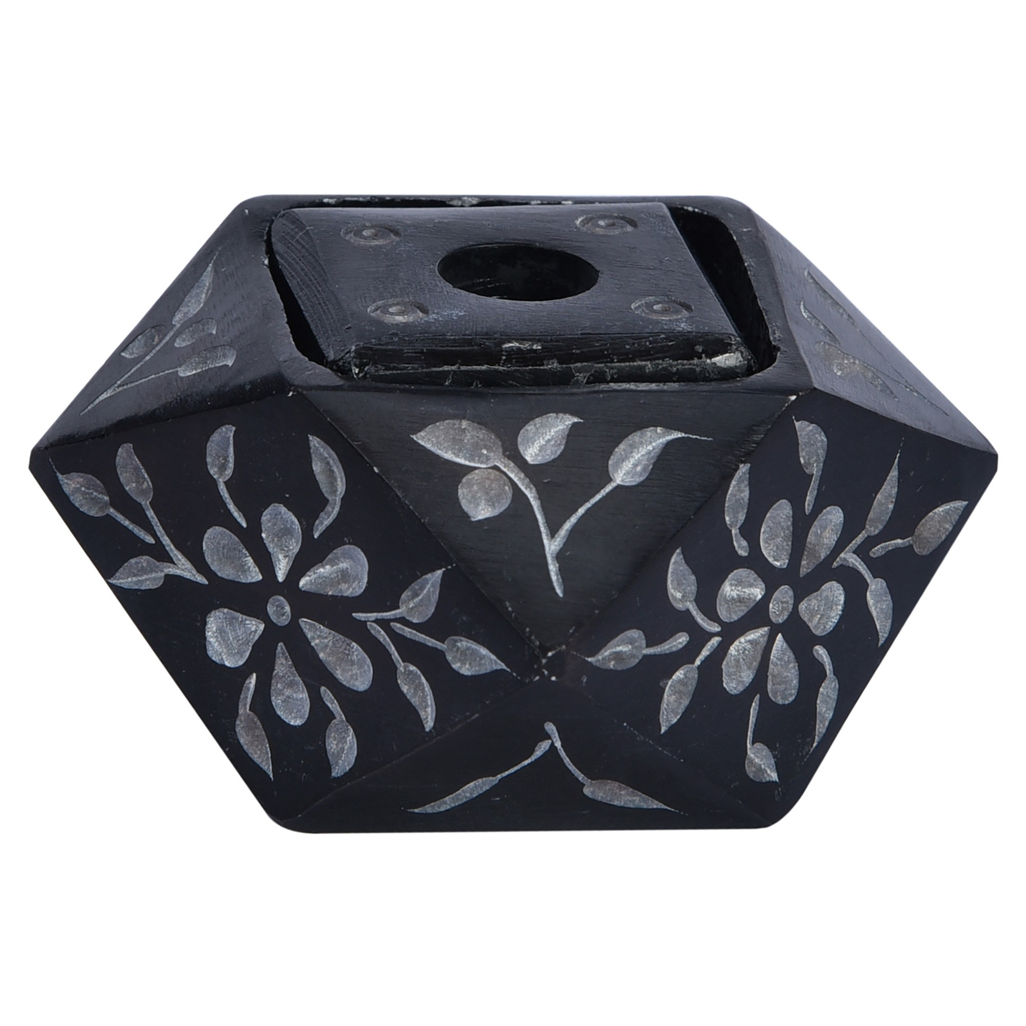 Poho Handcrafted Soapstone Candle Holder