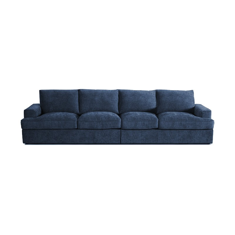 Halden Linen Fabric 4 Seater Sofa, Denim