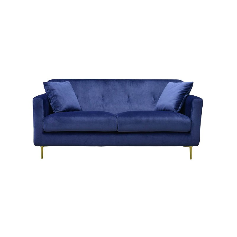 Gabriella Velvet Fabric 2.5 Seater Sofa, Navy
