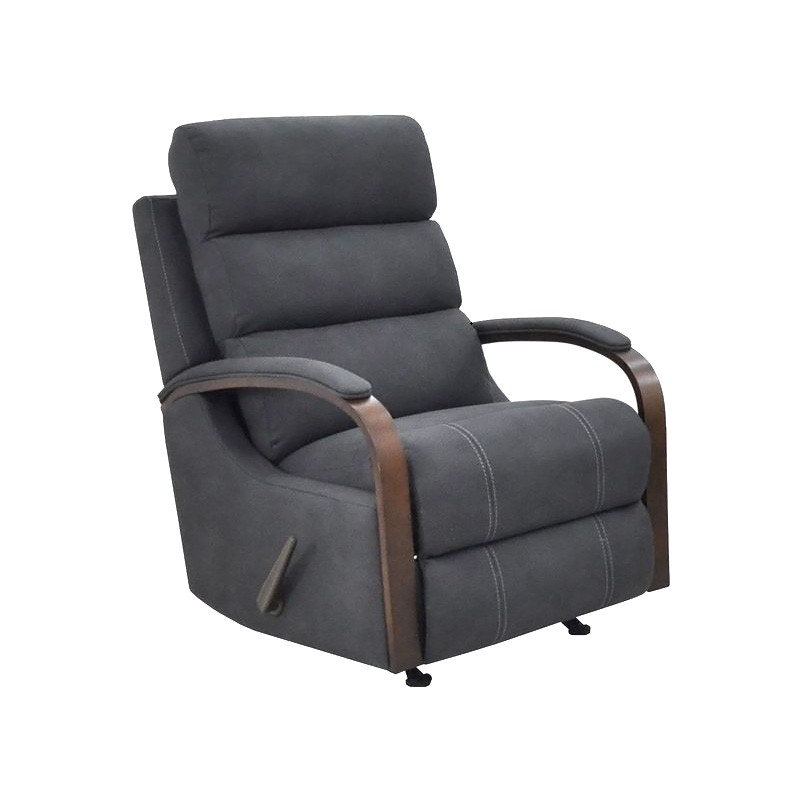Seward Rhino Fabric Rocking Recliner, Licorice