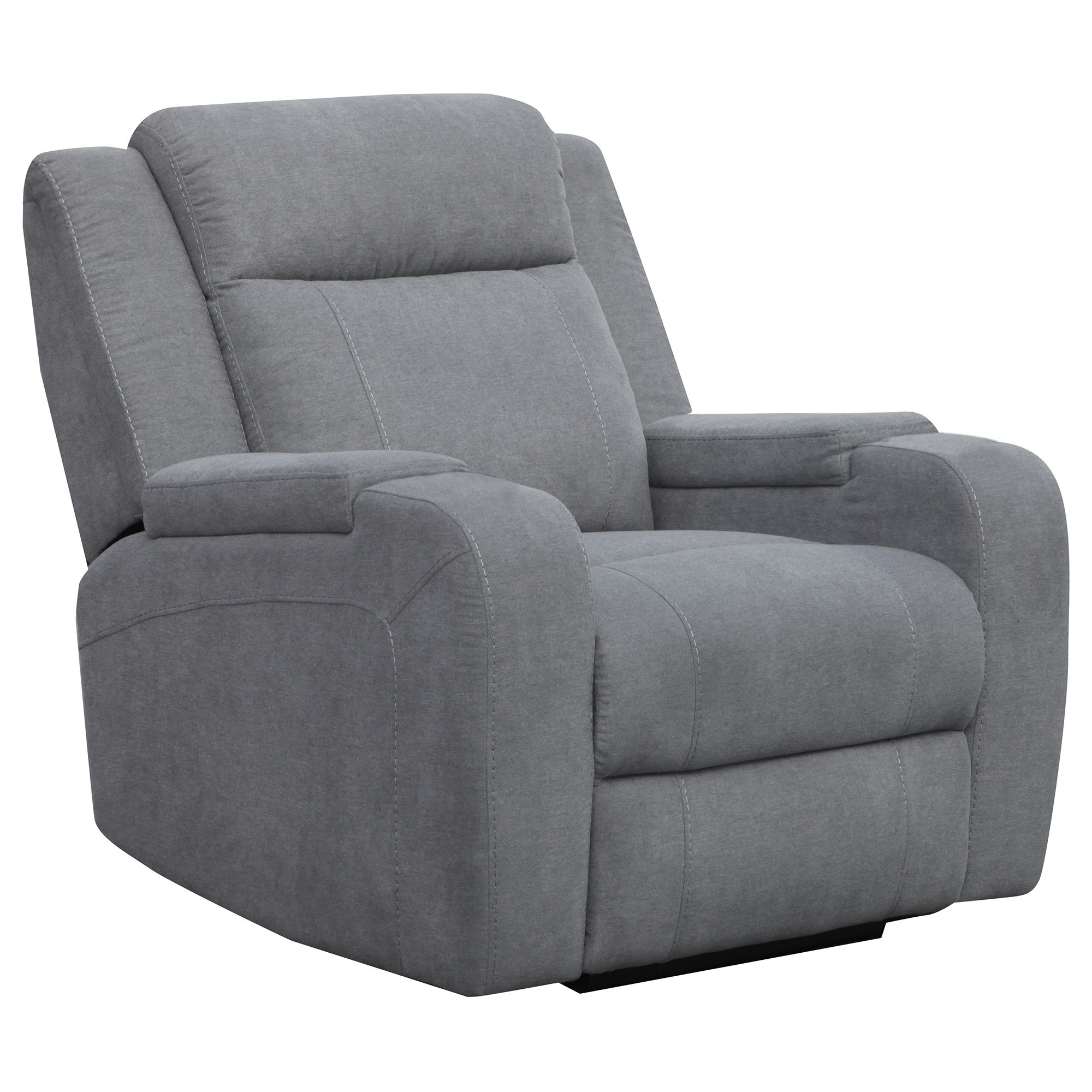 Renton Linen Fabric Electric Recliner, Storm