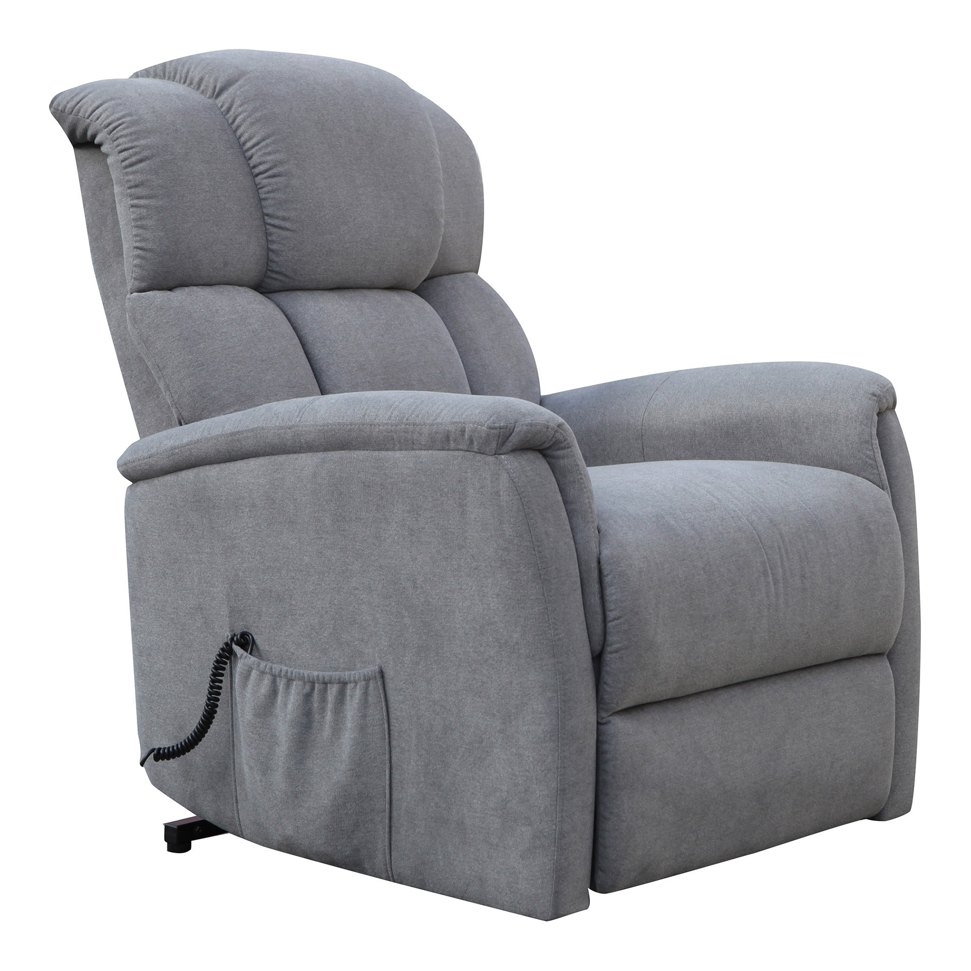 Boeing Linen Fabric Electric Lift Recliner, Storm
