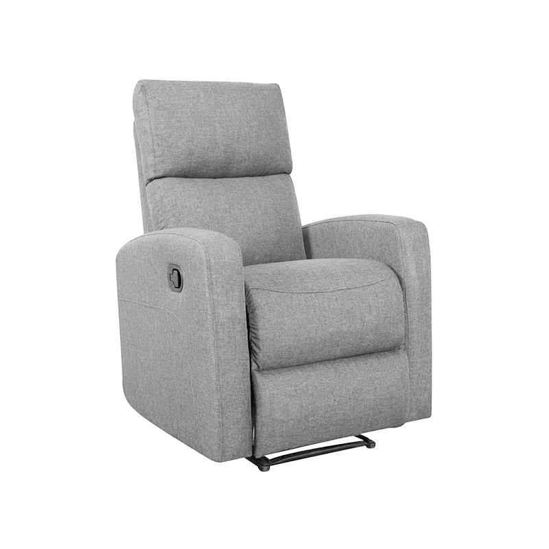 Tacoma Linen Fabric Recliner, Grey