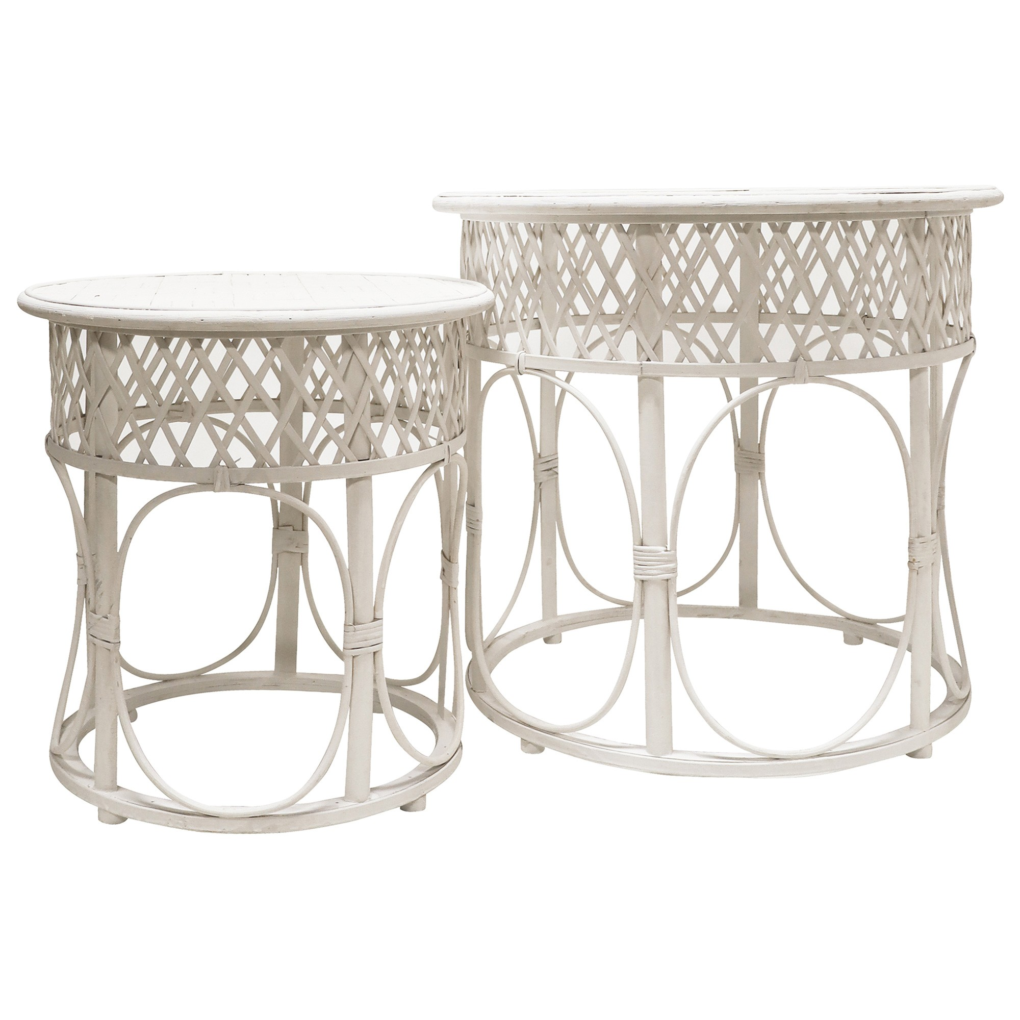 Scout 2 Piece Rattan Round Side Table Set