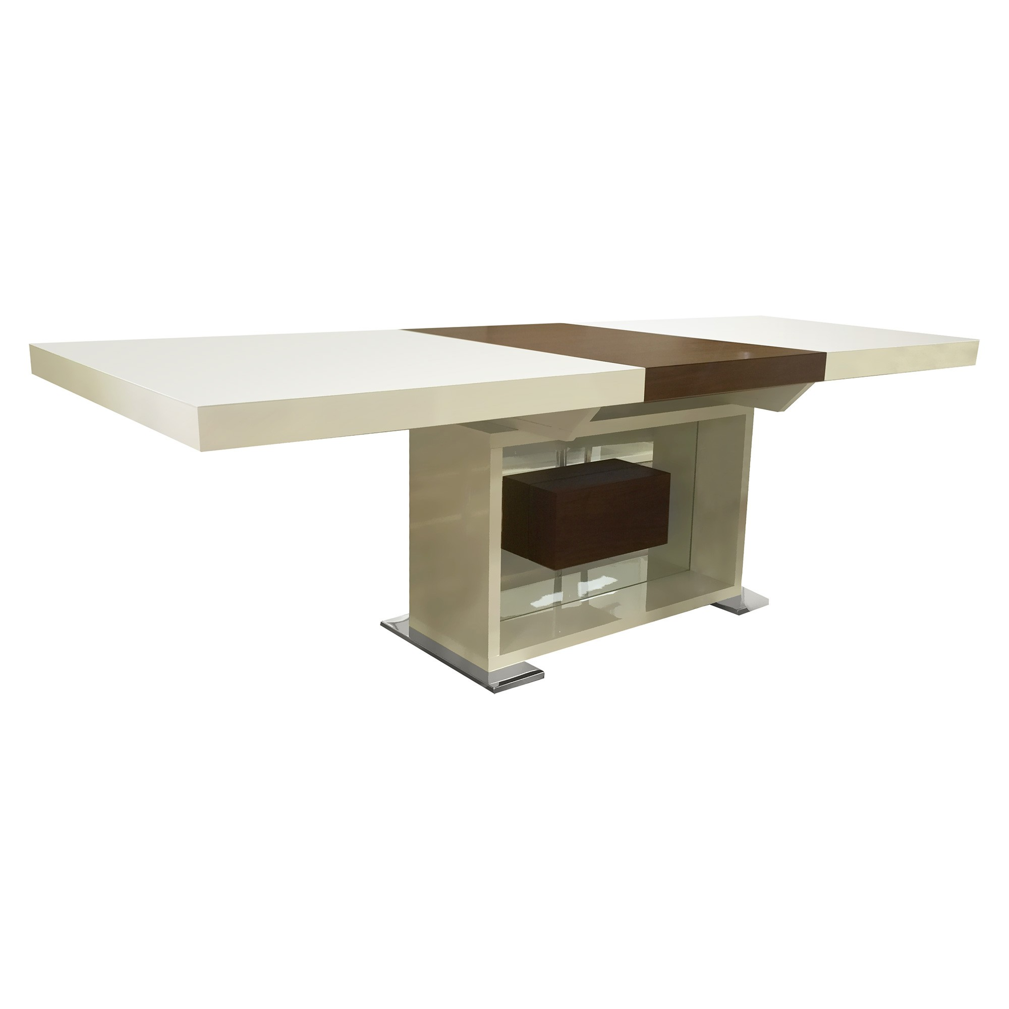 Eva Extendable Dining Table, 180-240cm, Beige