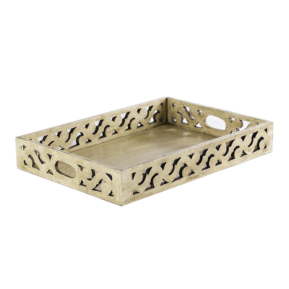 Cavillon Carved Wooden Tray