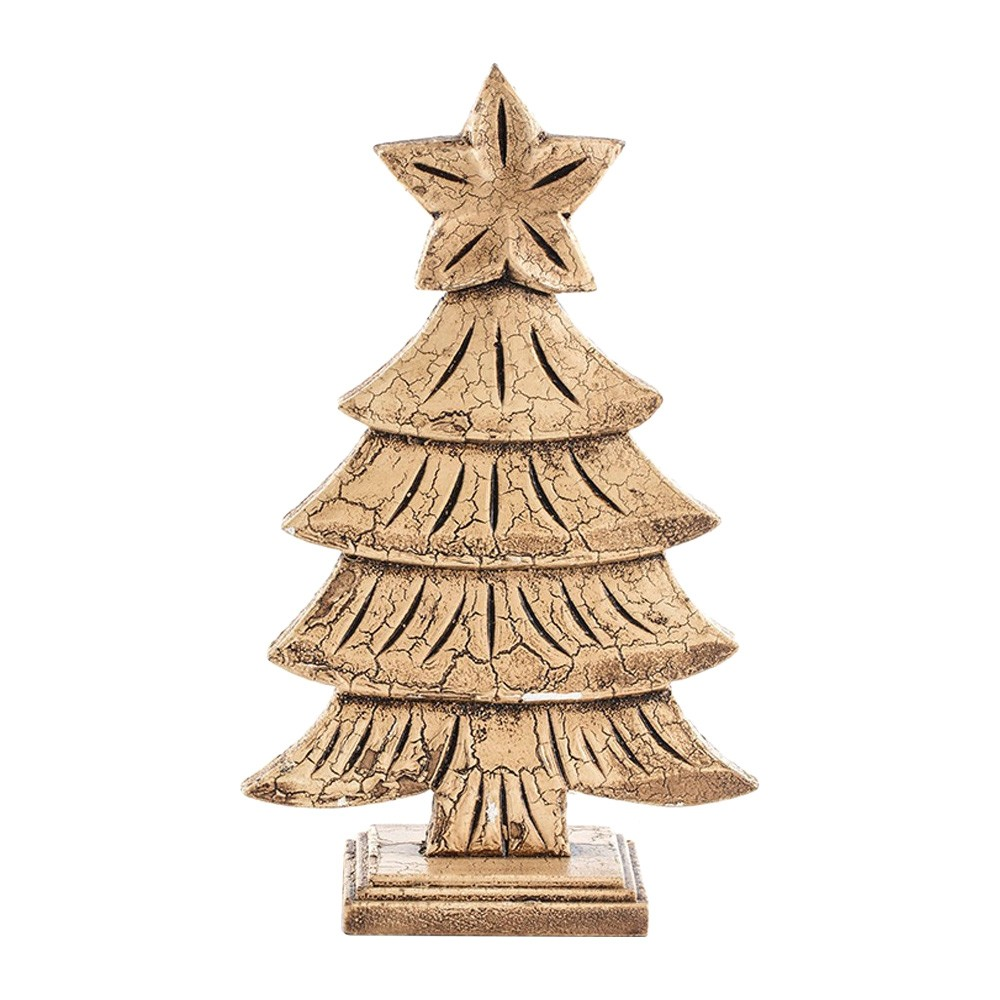Luni Hand Carved Wooden Xmas Tree Table Decor, Type B