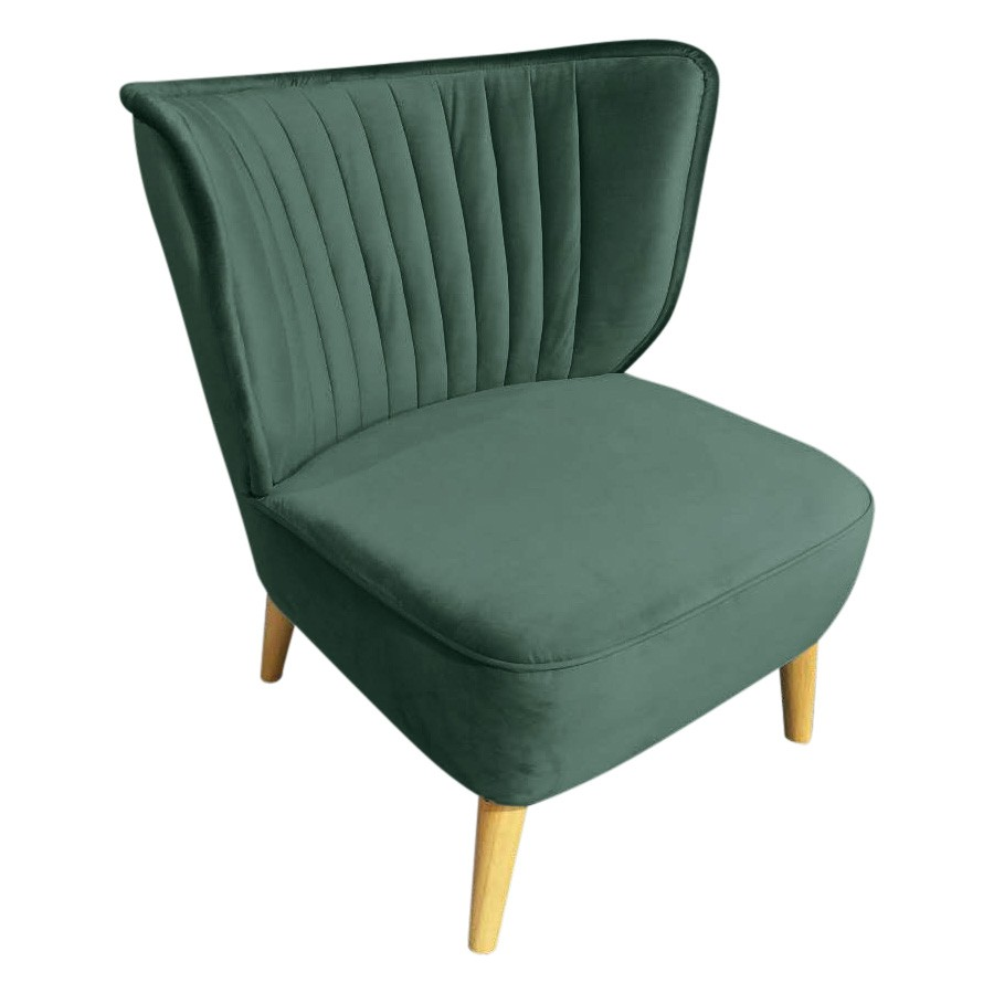 Lawson Velvet Fabric Lounge Chair, Emerald
