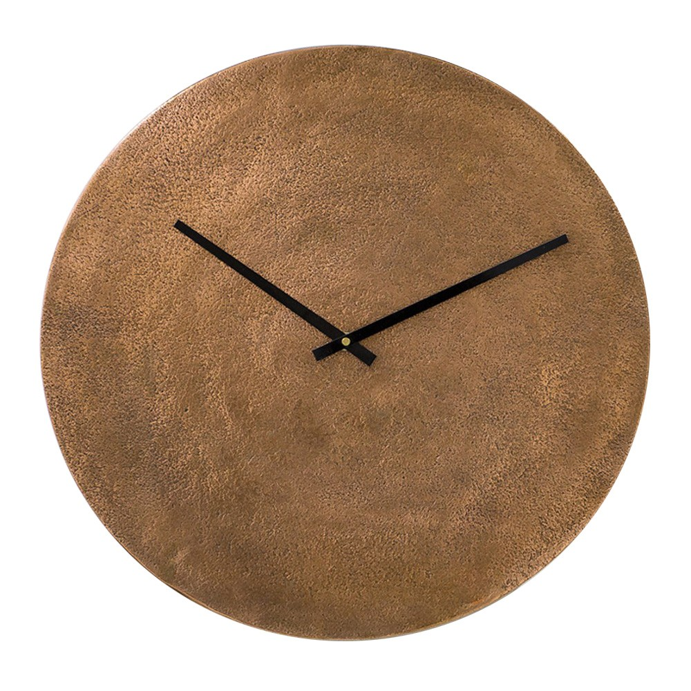 Terrassa Metal Round Wall Clock, 40cm, Burnt Copper