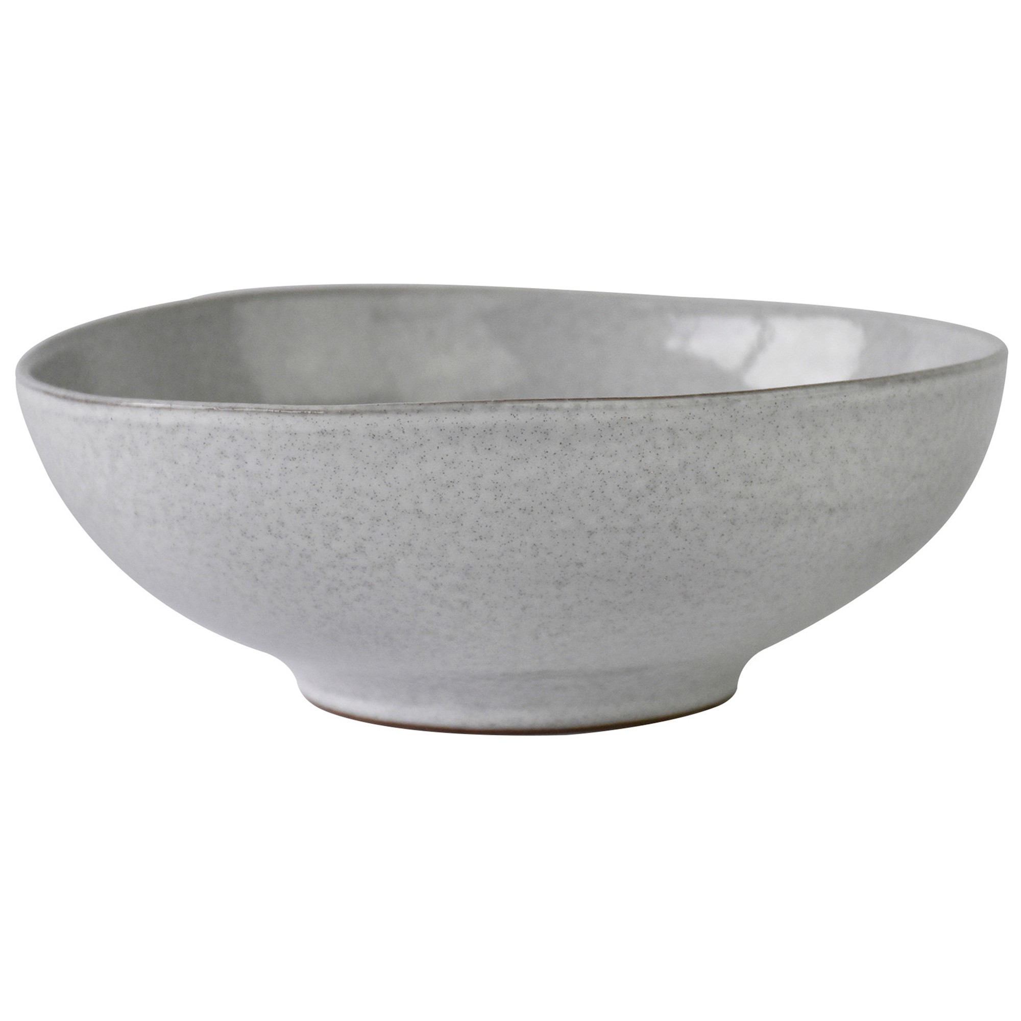 Pedra Ceramic Shallow Bowl, 31cm, White