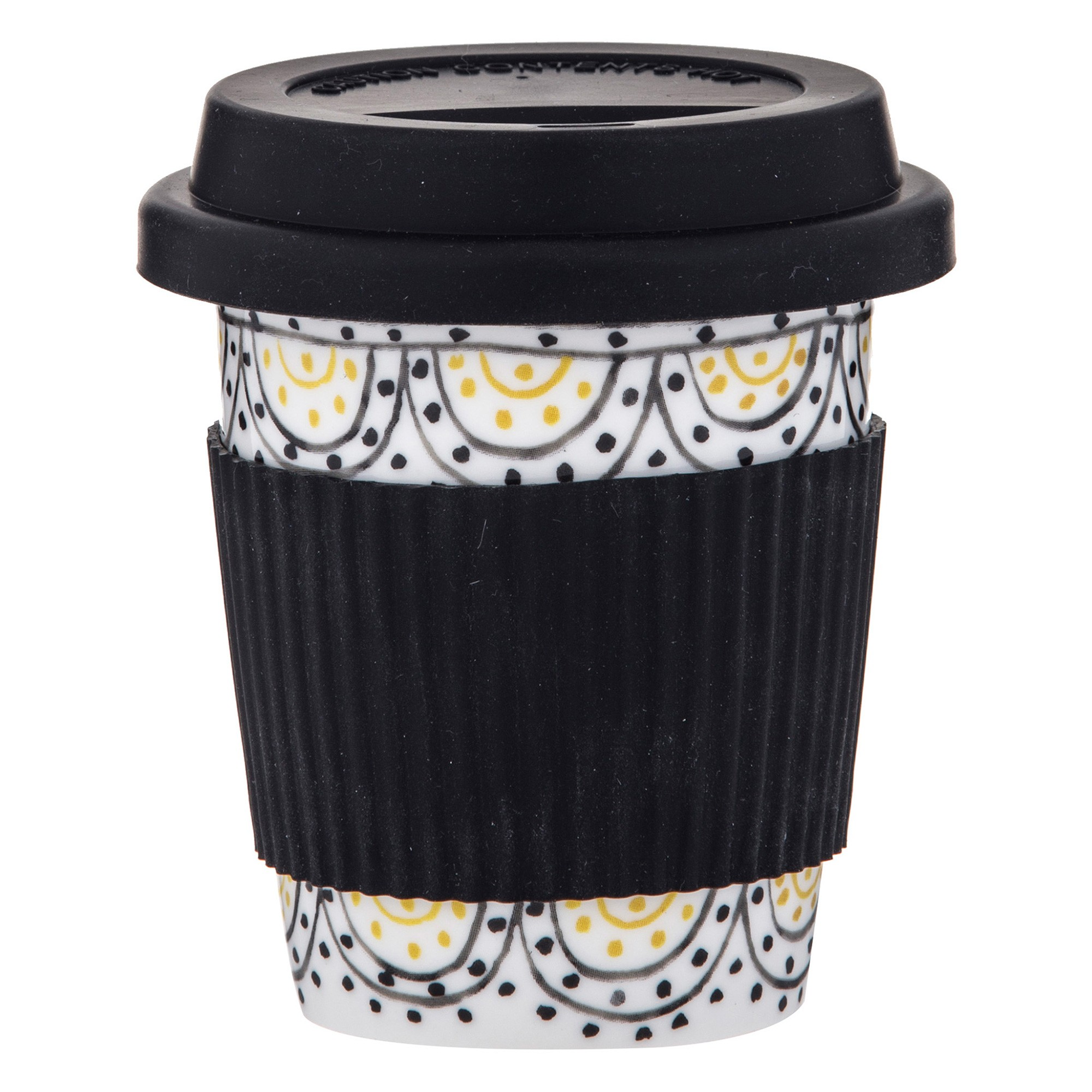 Ethnique Ceramic Travel Mug, Rings, 300ml