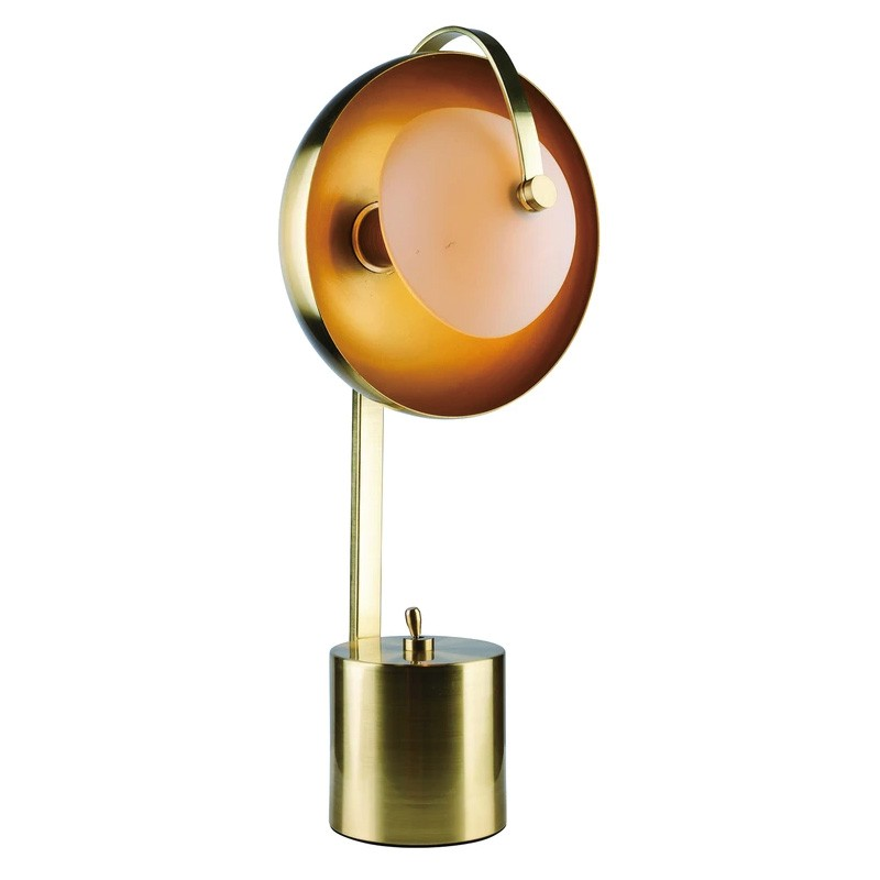 Mercury Metal Table Lamp, Brushed Brass