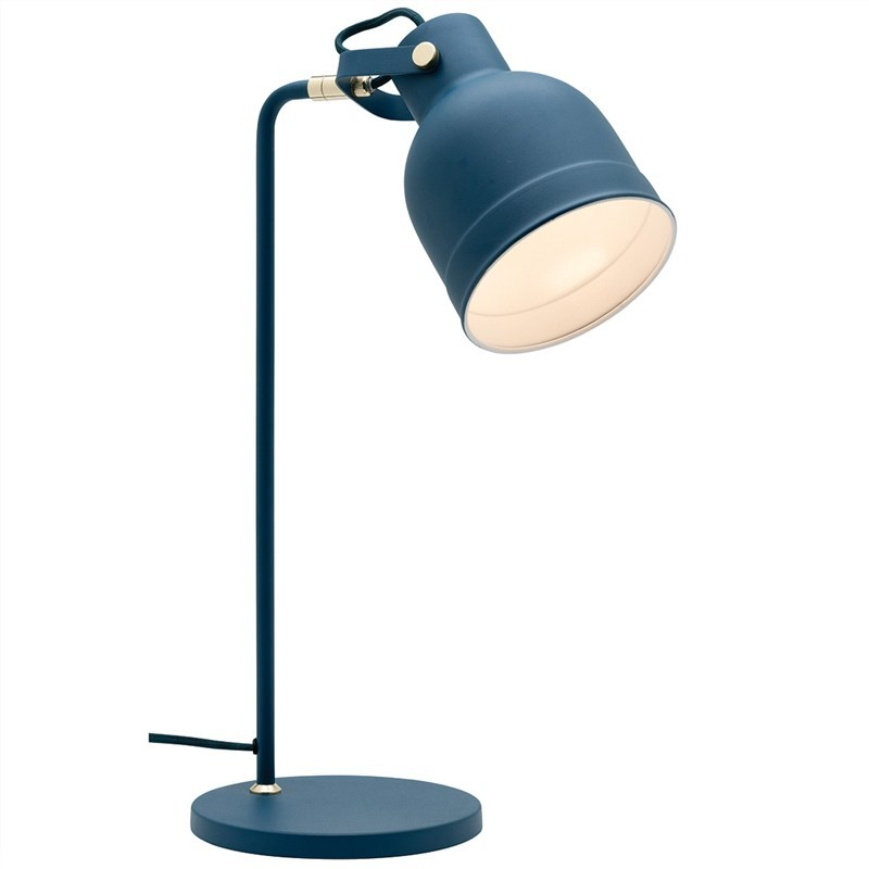 Elliot Metal Table Lamp, Navy