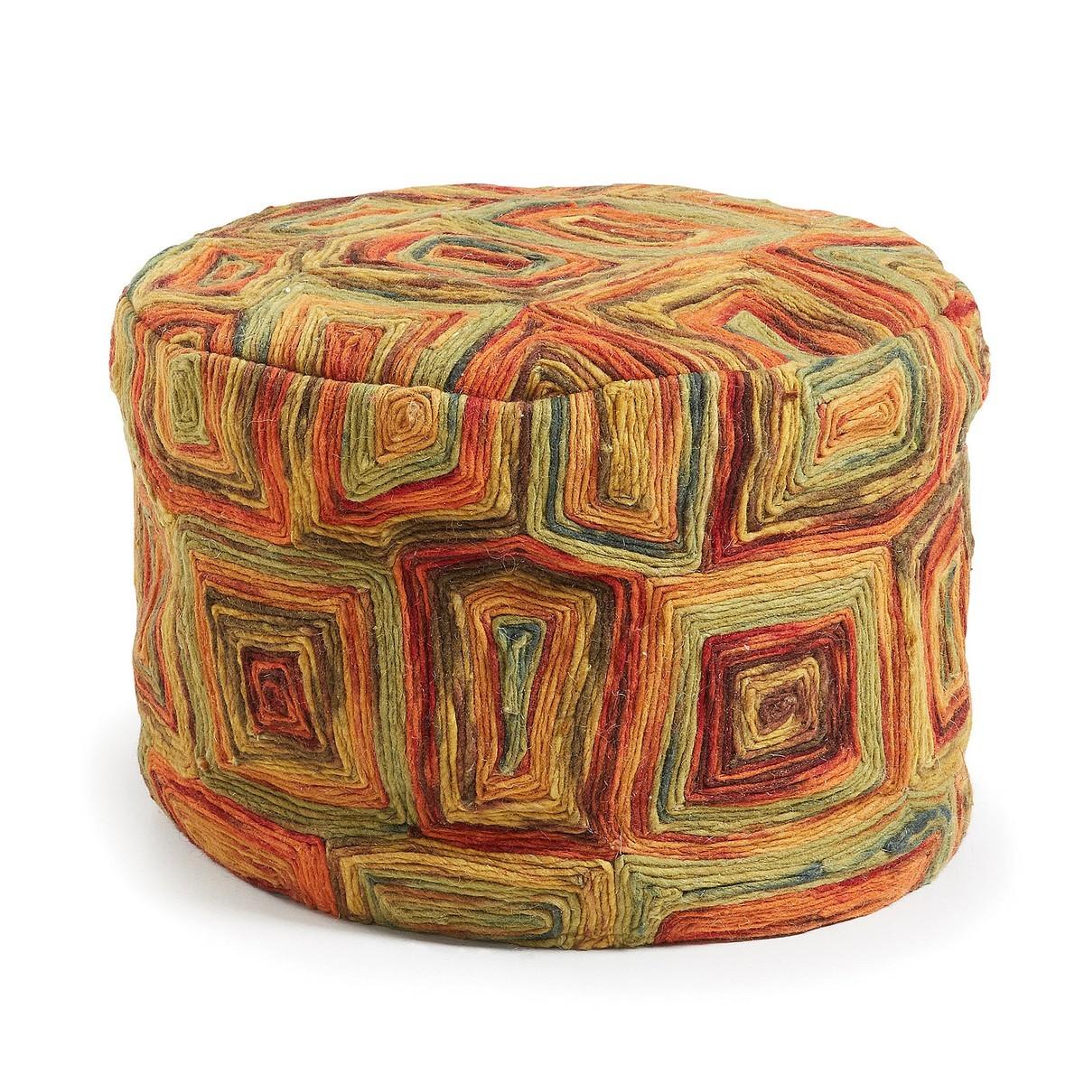 Suncrest Wool Round Ottoman