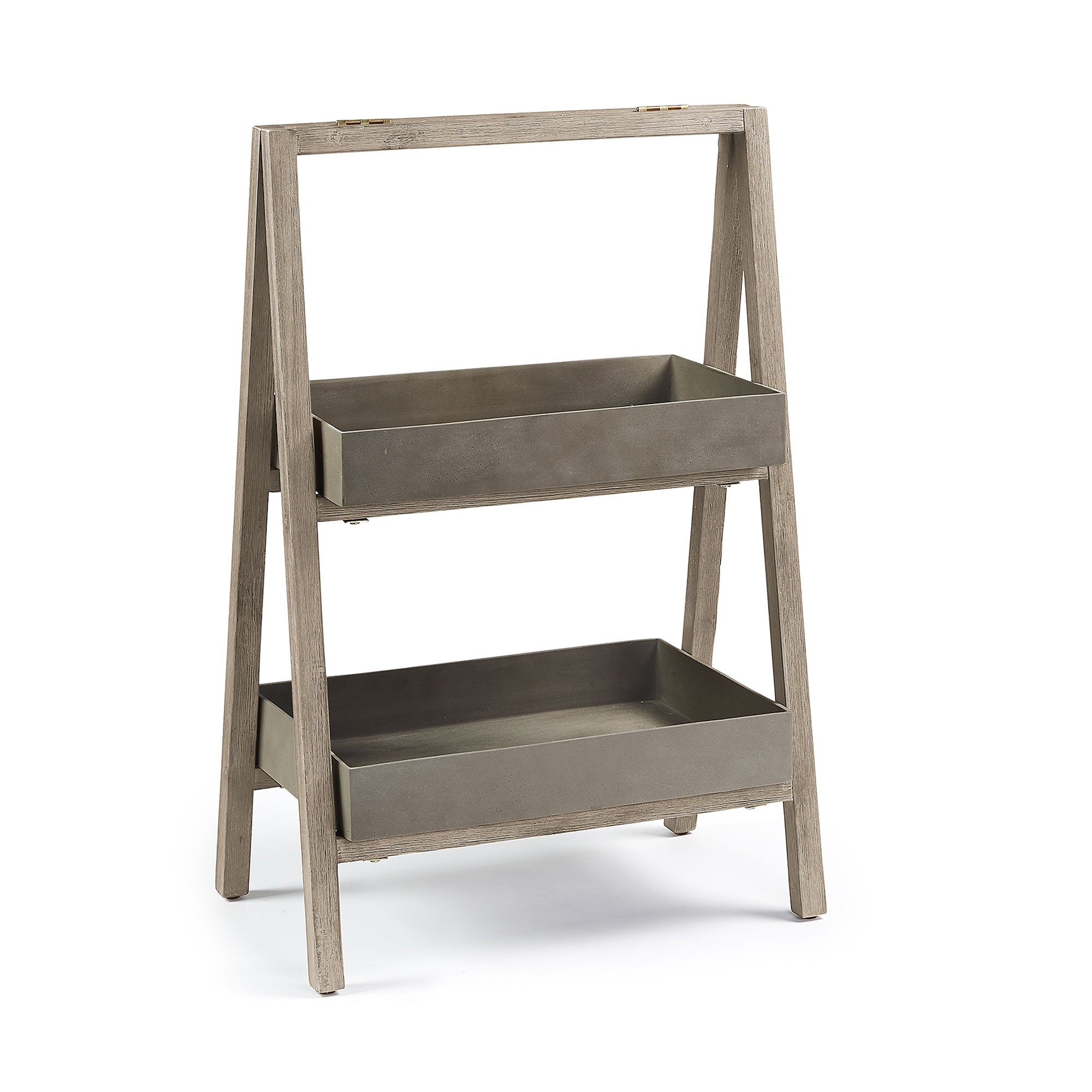 Sisley Polycement & Acacia Timber Planter Shelf