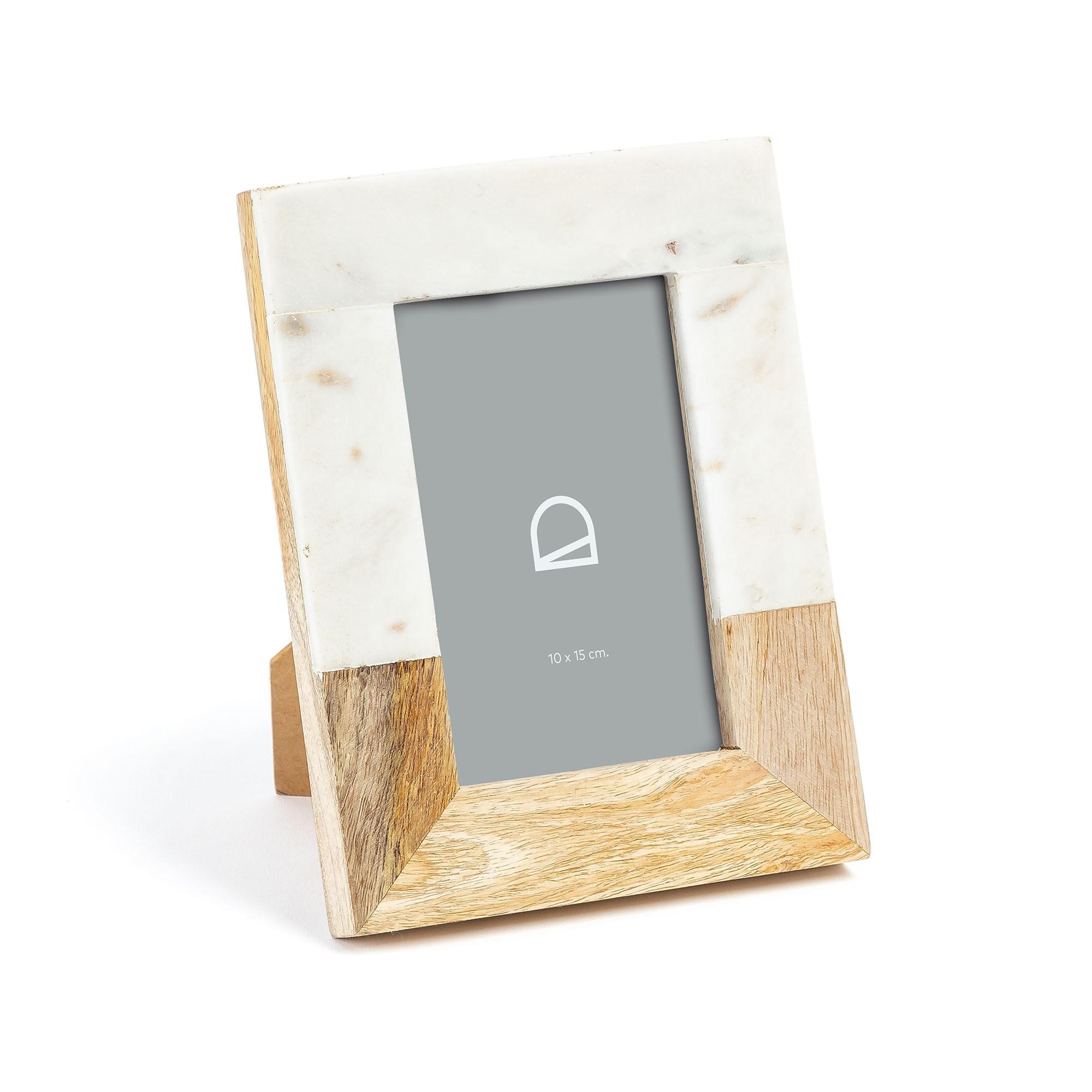 Kamran Marble & Timber Photo Frame, 4x6