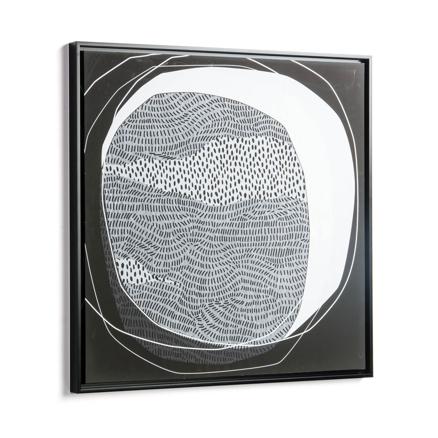Wakamiya Framed Abstract Canvas Wall Art Print, 60cm