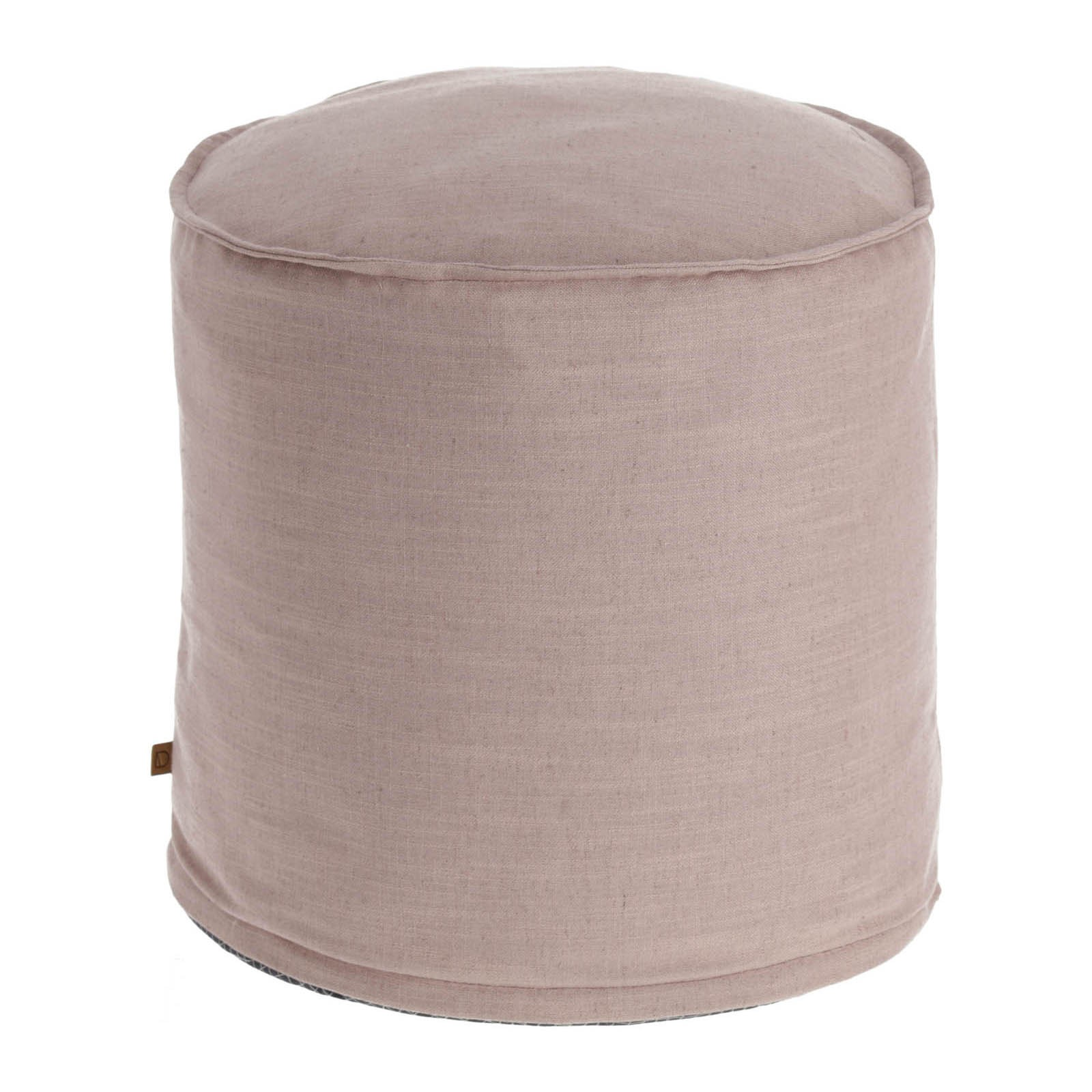 Moana Fabric Round Ottoman Stool, Blush