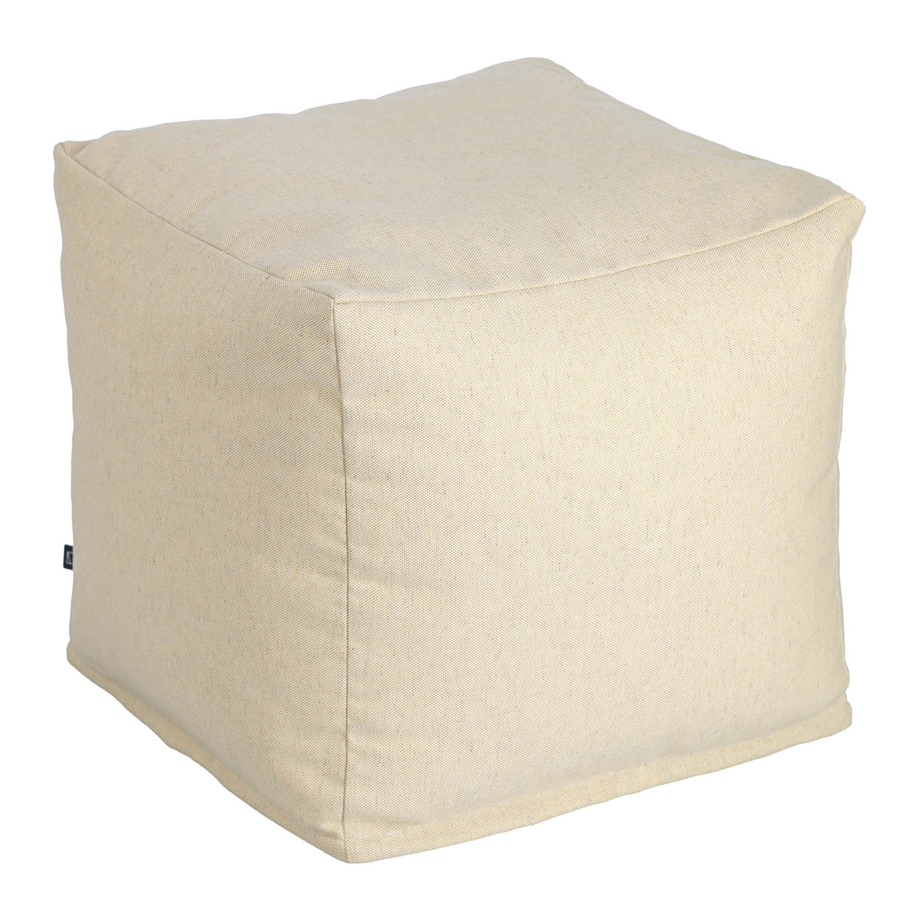 Amold Fabric Square Pouf, Beige