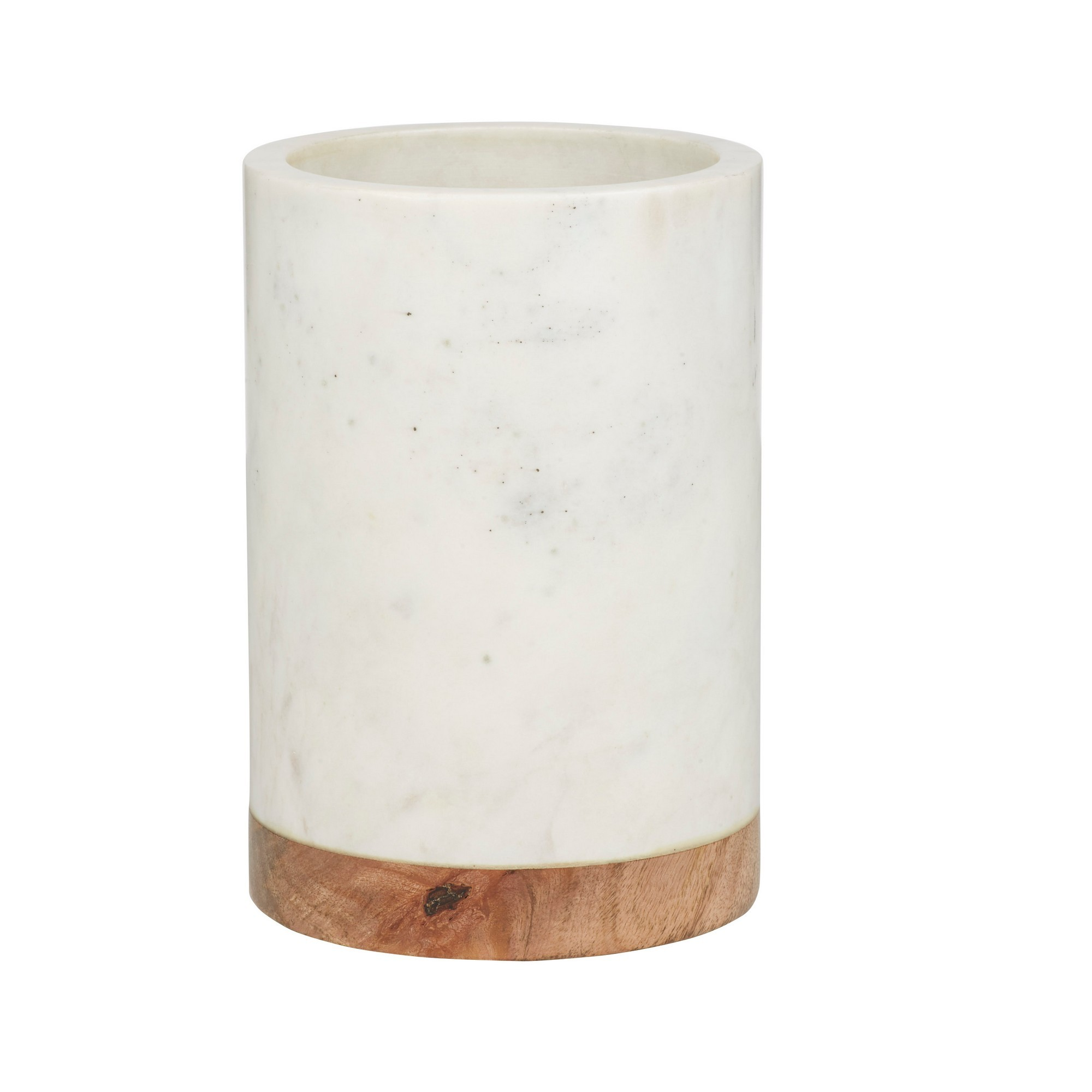 Eliot Marble & Mango Wood Utensil Holder