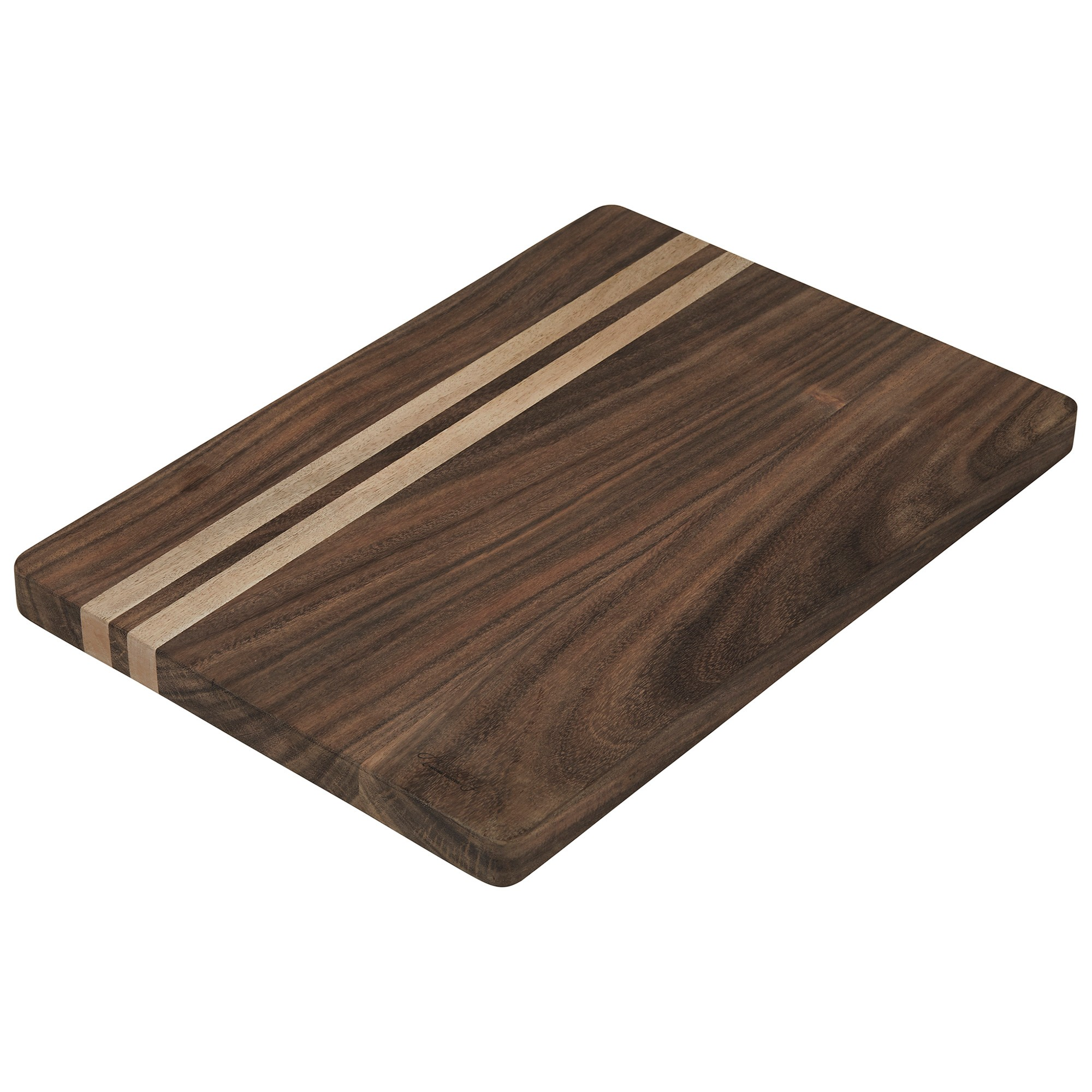 Faulkner Timber Wood Butchers Board, 50x25cm, Walnut