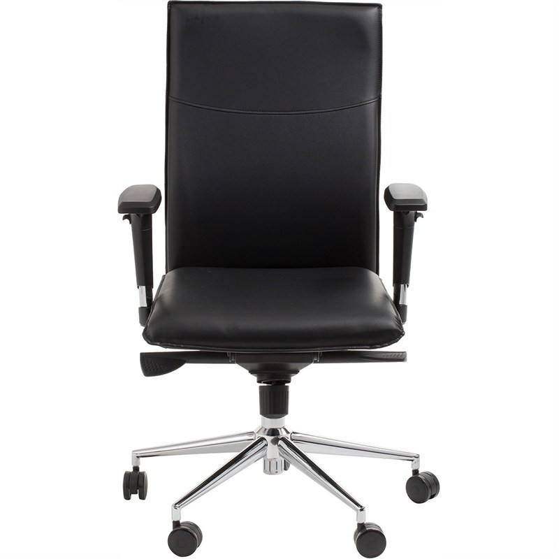 Graeme Commercial Grade Adjustable Leather Office Armchair