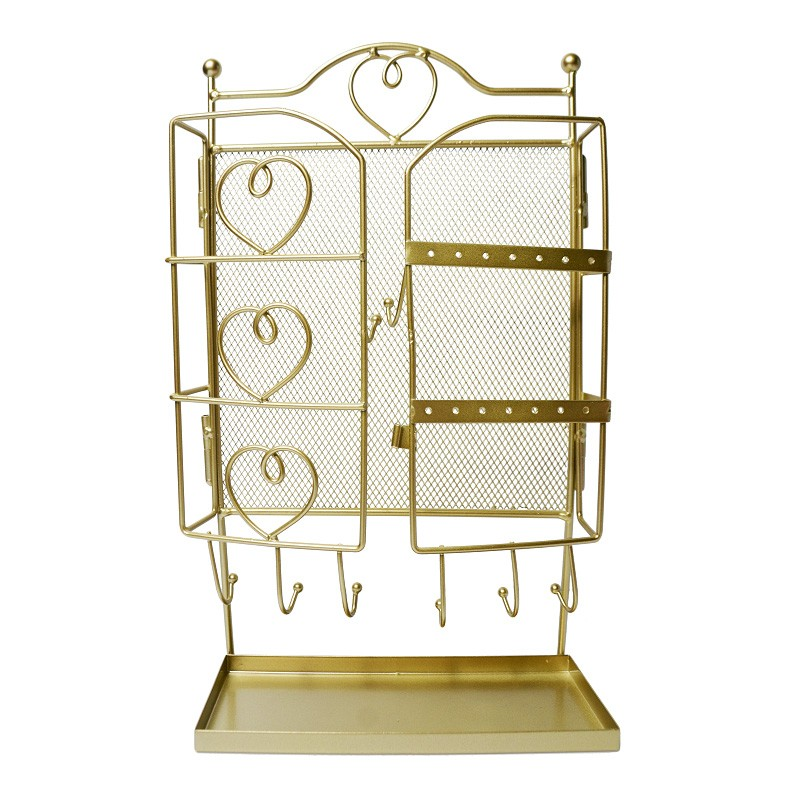 Kingsley Metal Jewellery Stand, Gold