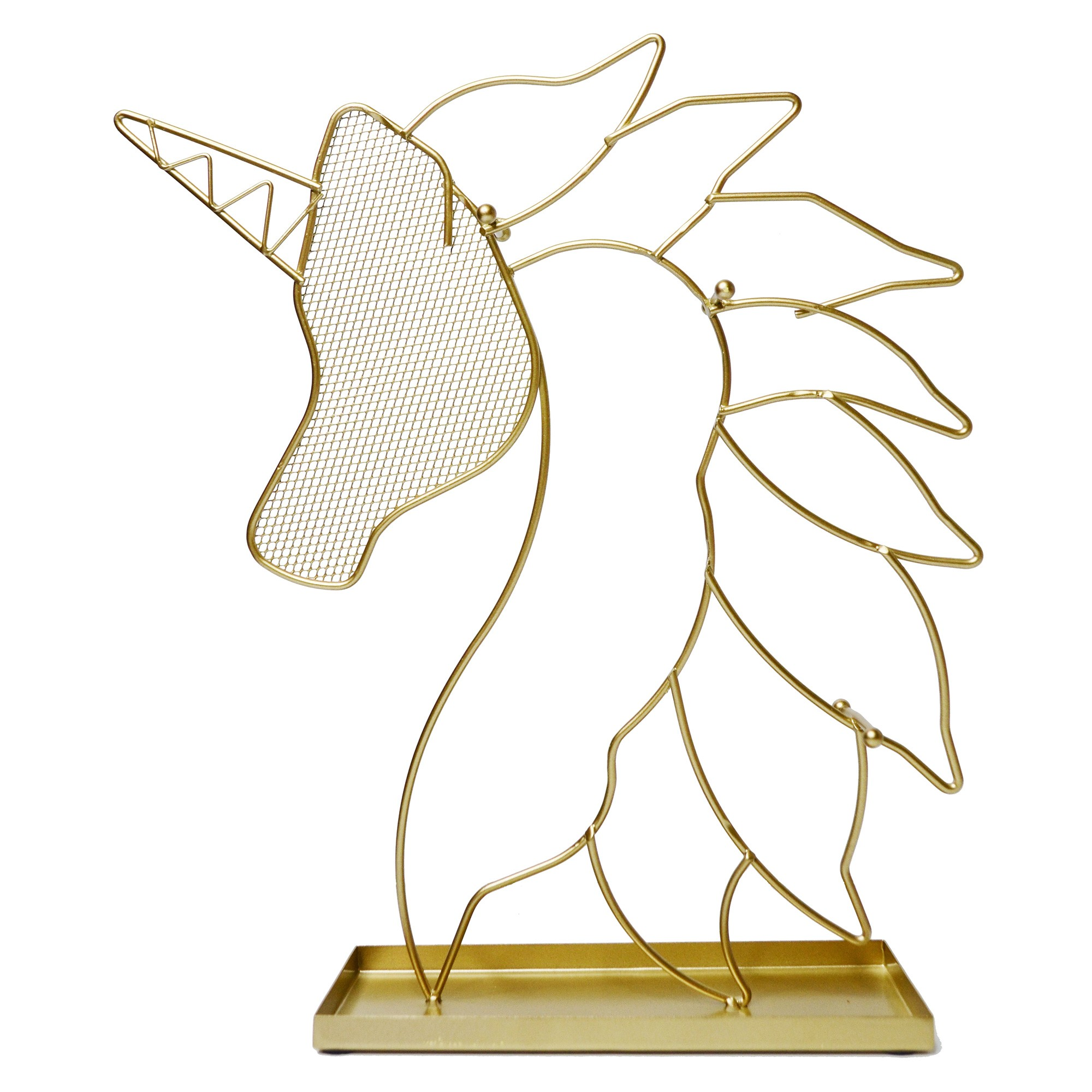 Unicorn Metal Jewellery Stand, Gold