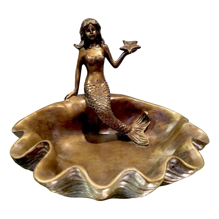 Mermaid & Shell Jewellery Tray, Bronze