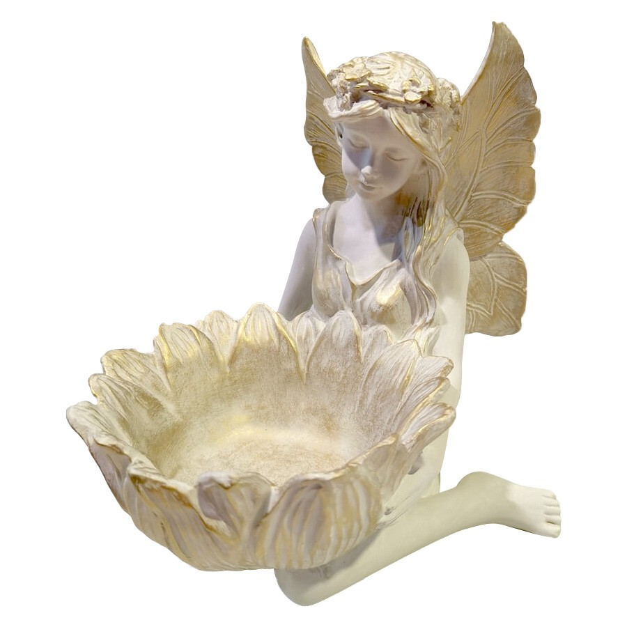 Flower Fairy Holding Petal Jewellery Tray