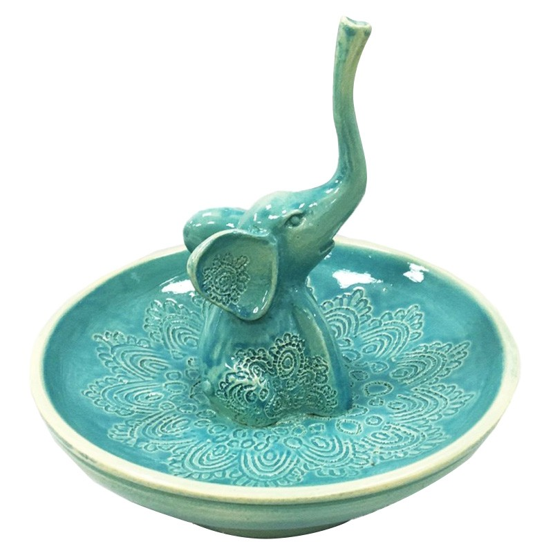 Little Elephant Ring Holder, Turquoise