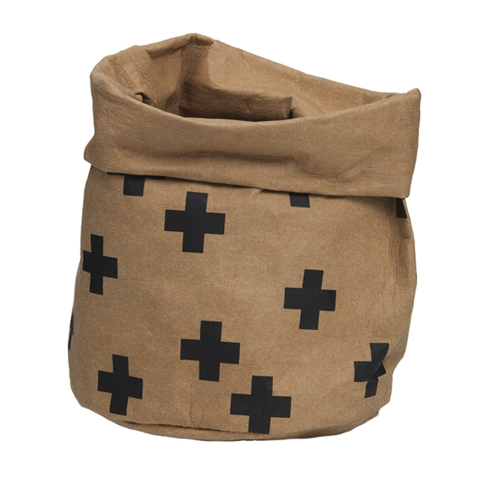 Adair Wash Paper Storage Bag, Small, Brown